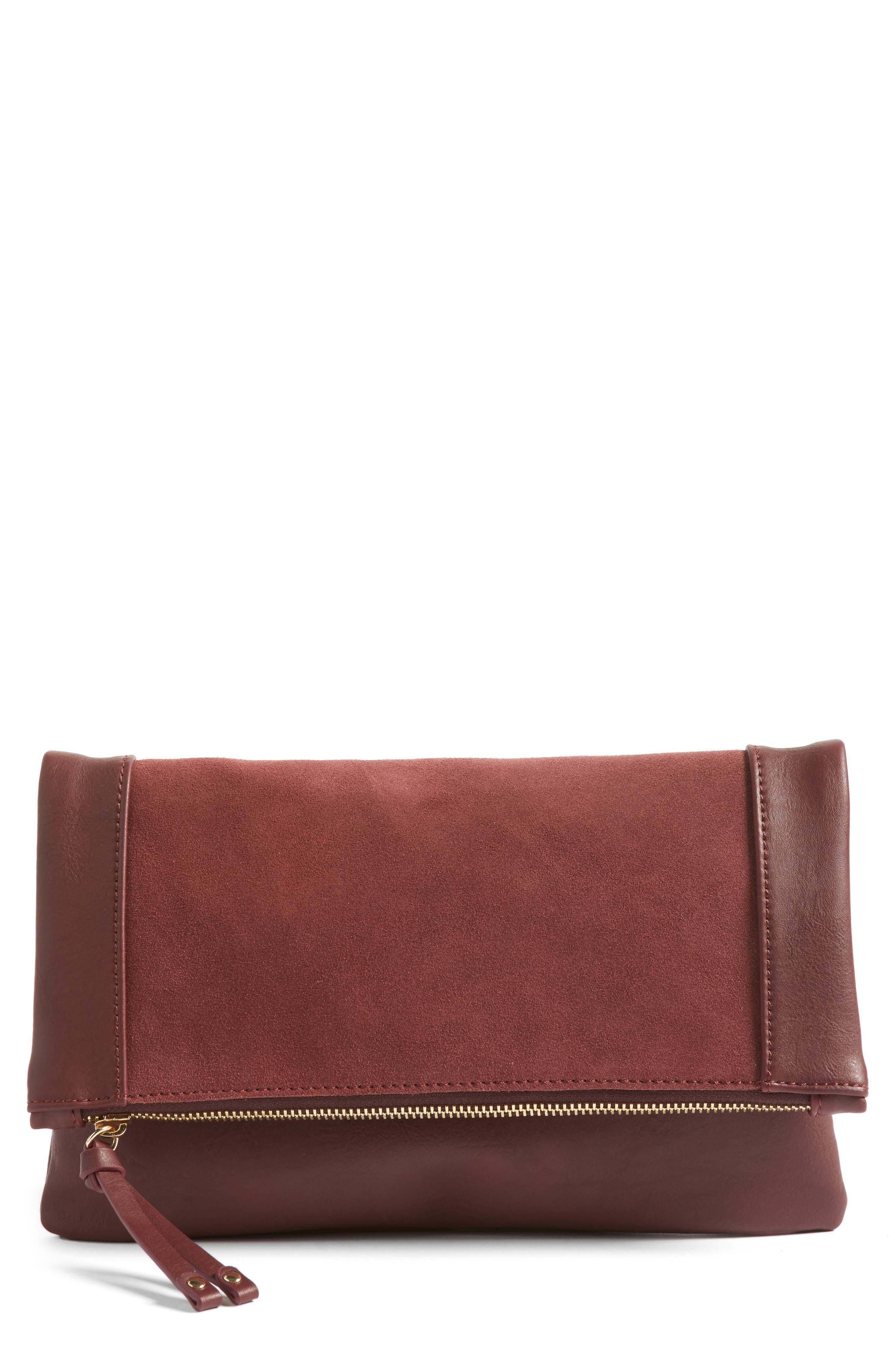 Main Image - Sole Society Jemma Suede Clutch