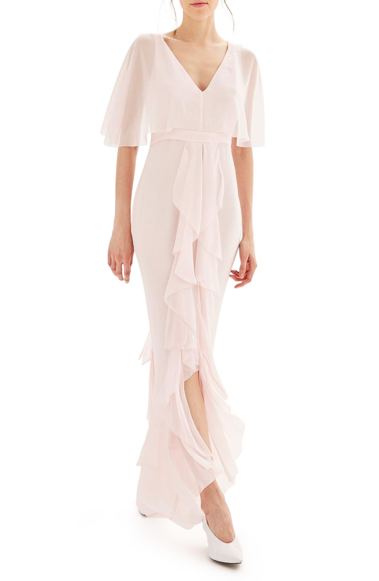 Main Image - Topshop Bride Cascade Gown