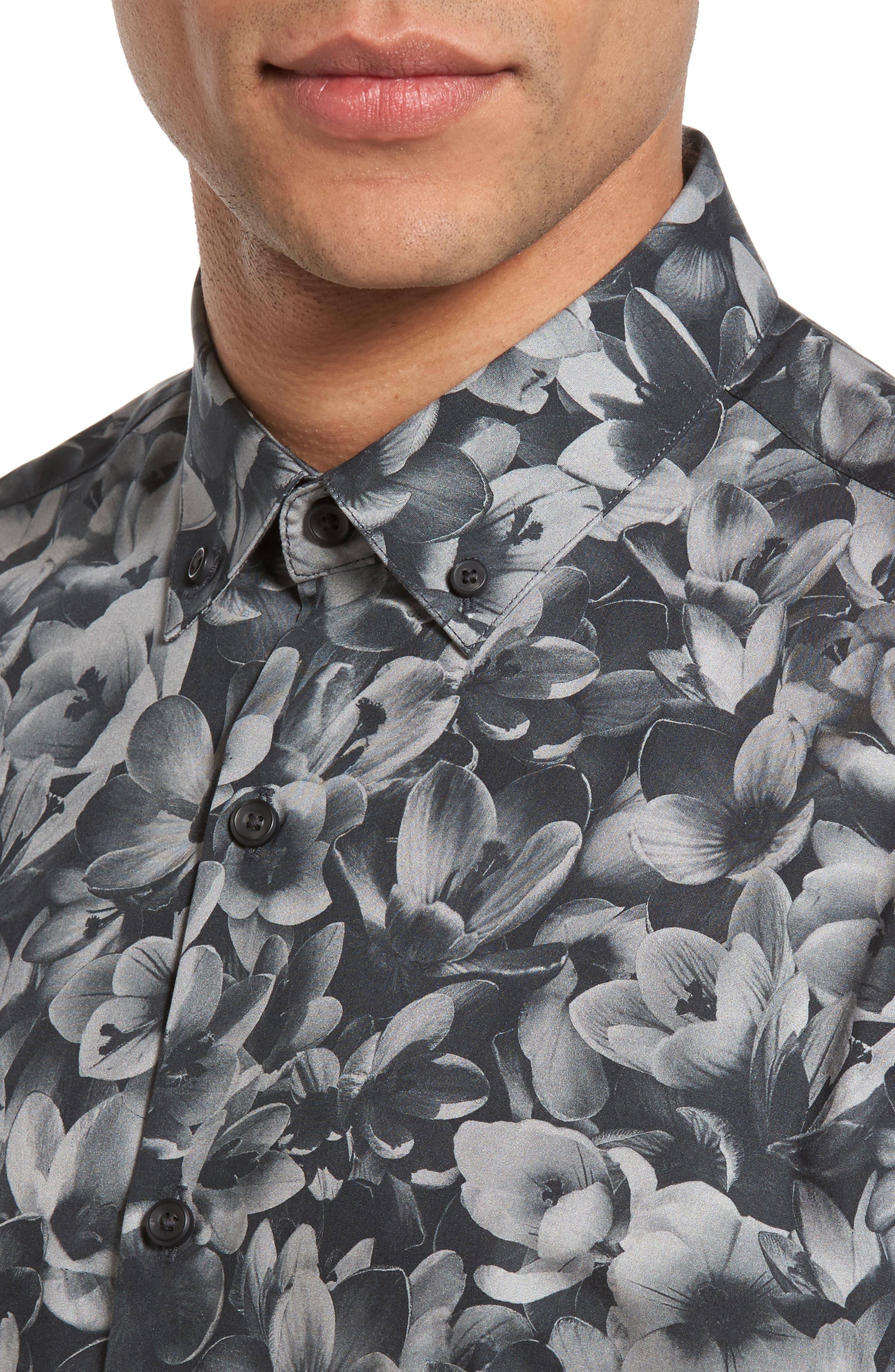 Alternate Image 4  - Calibrate Trim Fit Non-Iron Print Sport Shirt