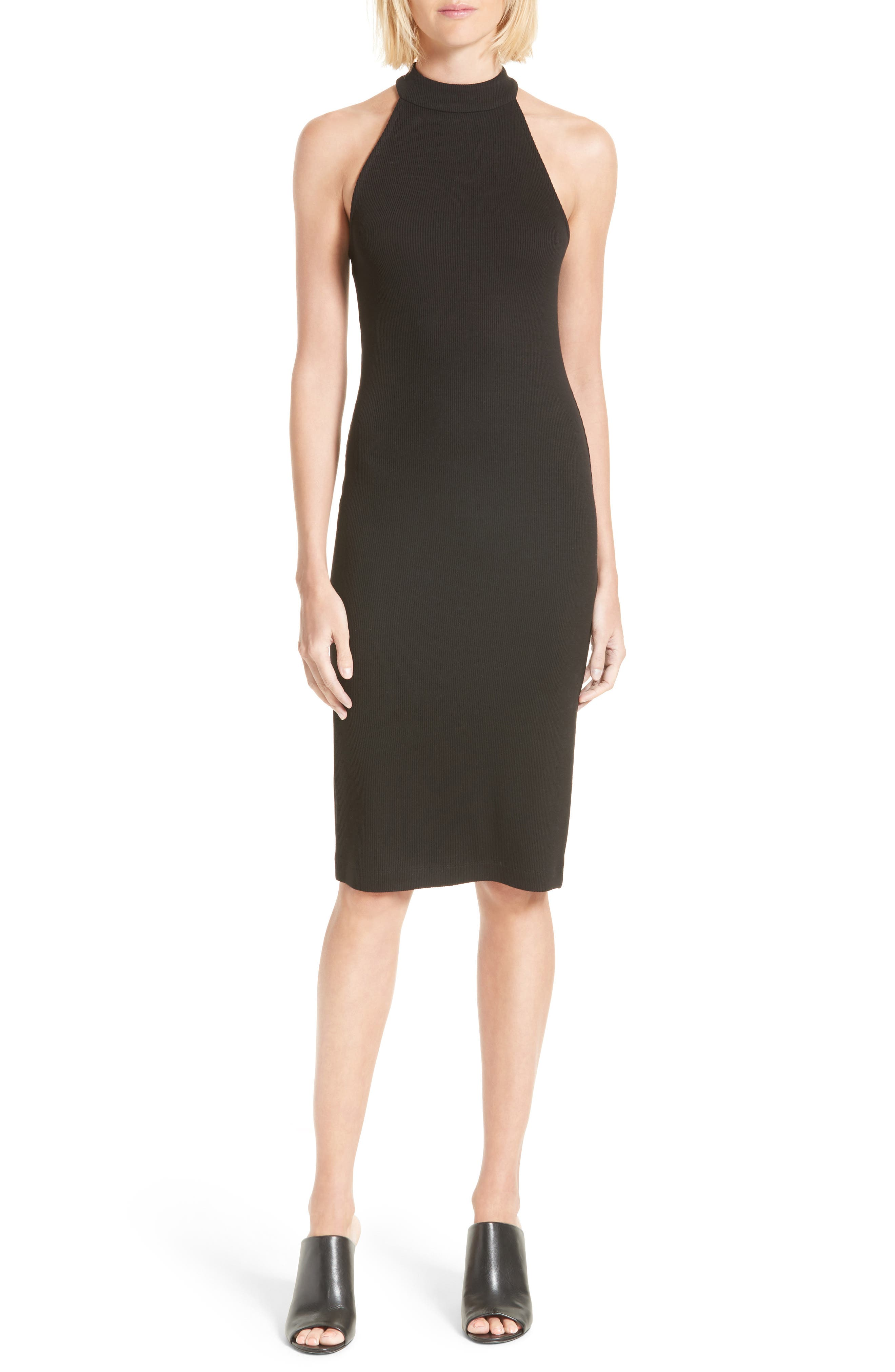 L'AGENCE Iman Mock Neck Dress