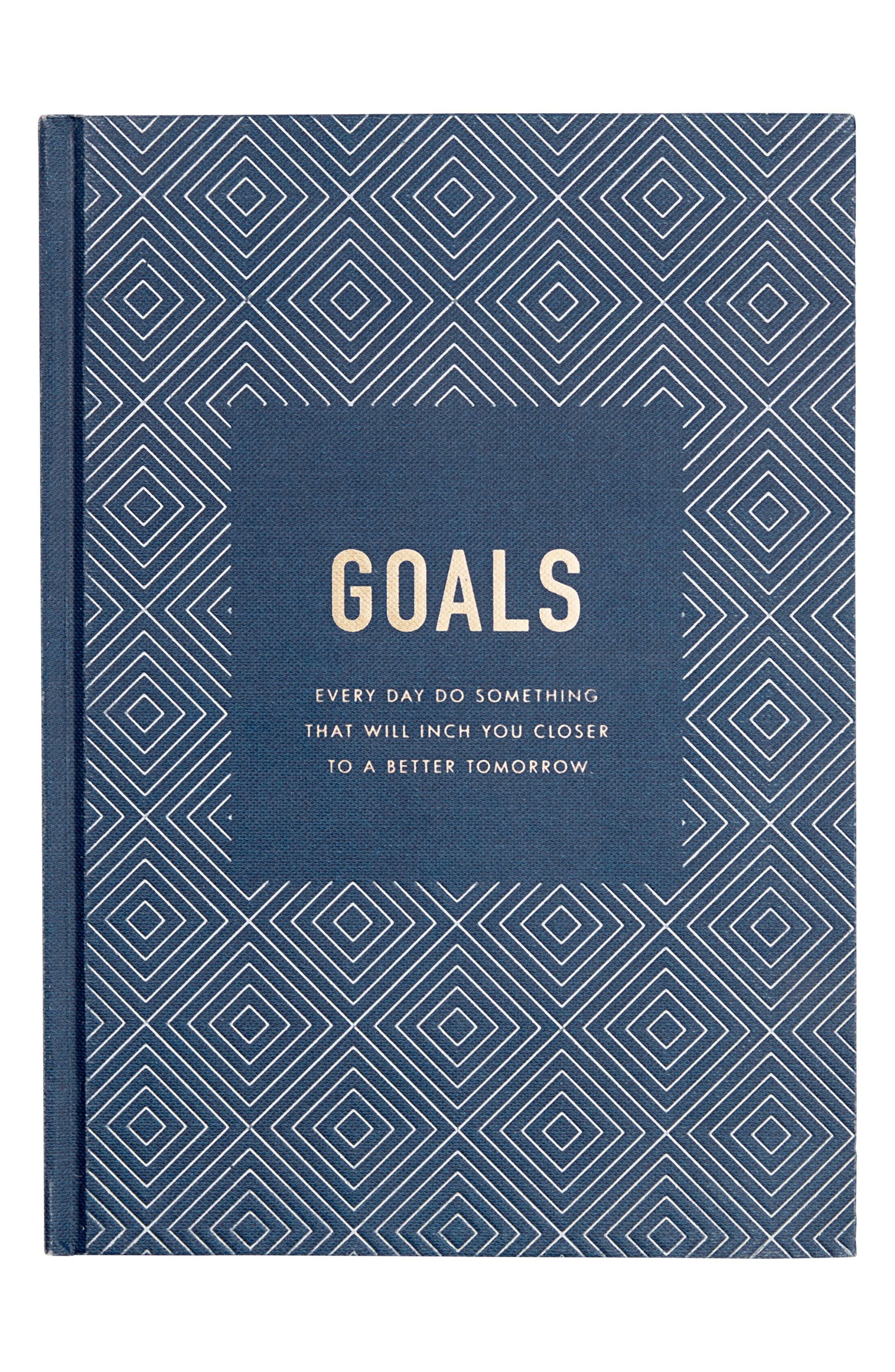 Goals: Inspiration Journal,                         Main,                         color, Navy