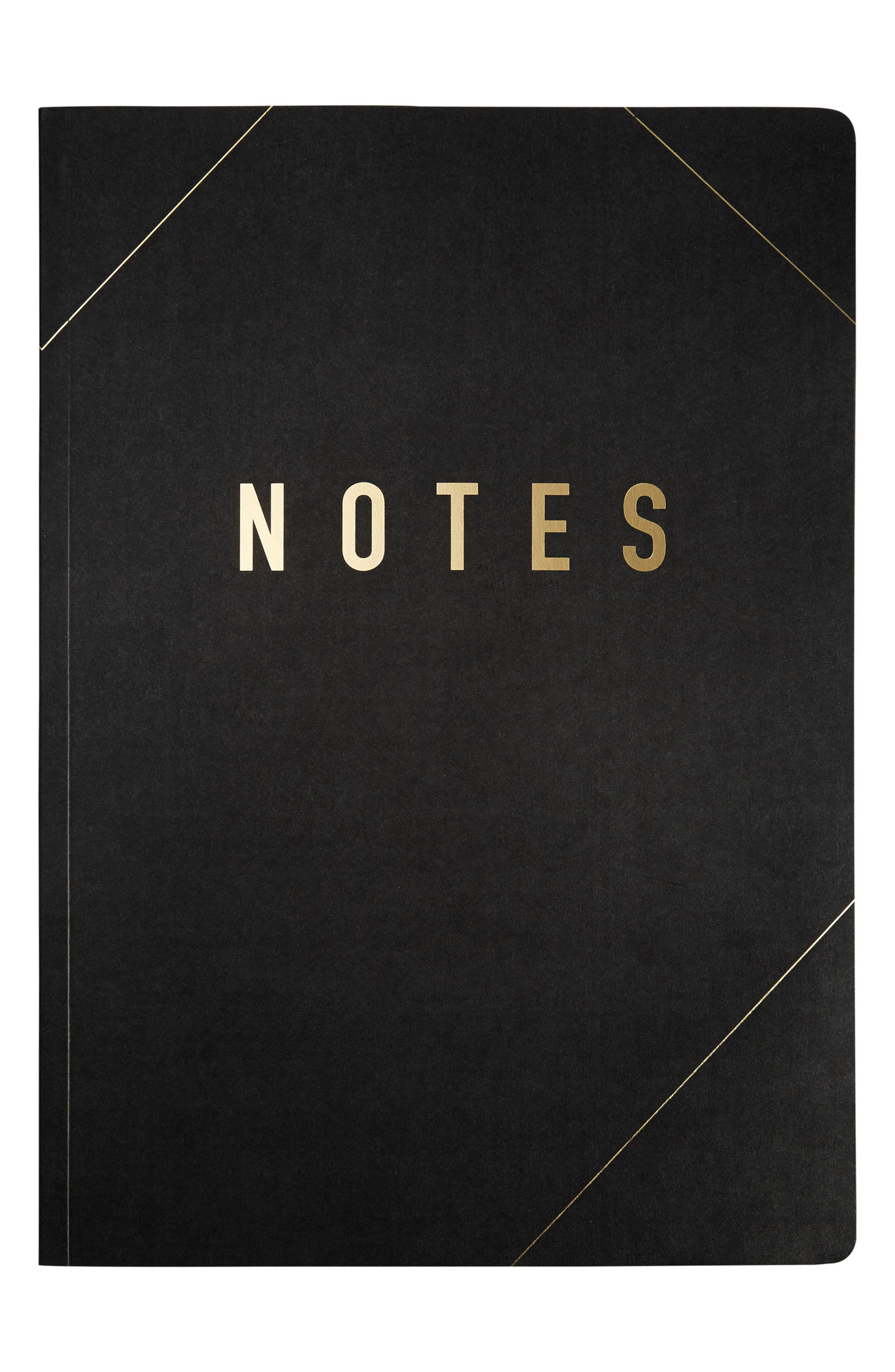 A4 Notebook Refill,                         Main,                         color, Black/ Gold