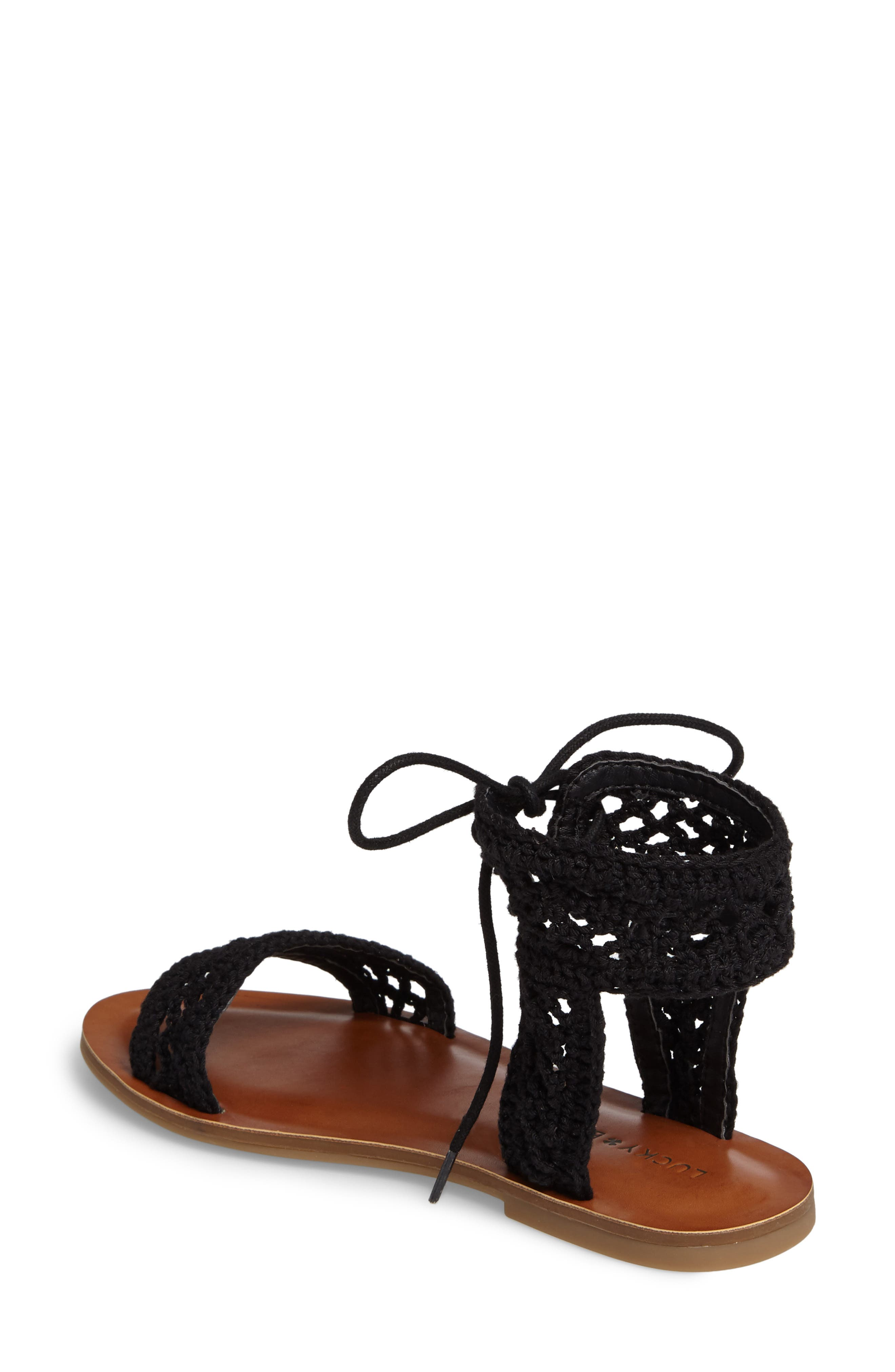 Alternate Image 2  - Lucky Brand Ariah Ankle Tie Sandal (Women)
