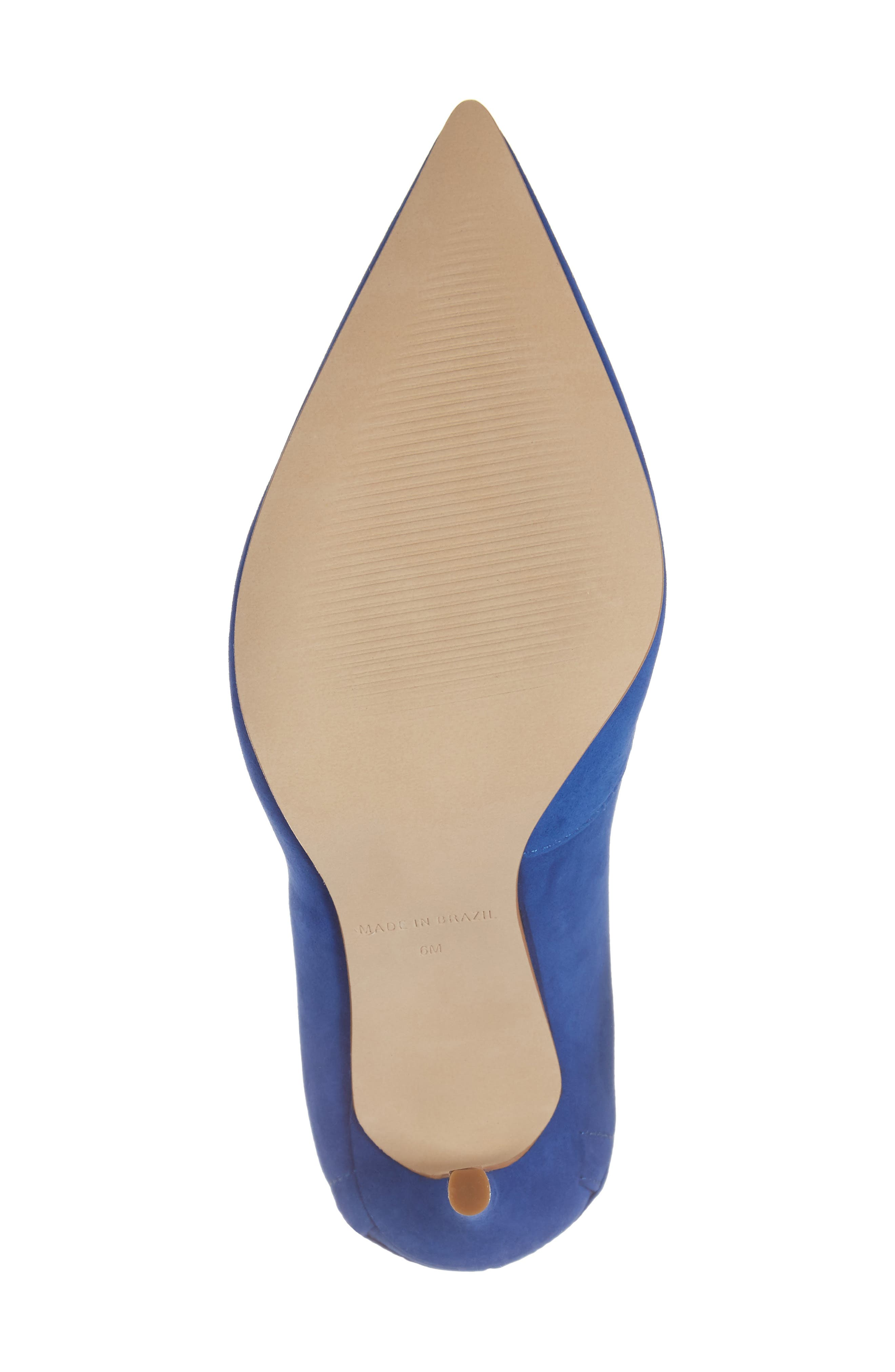 Paiton Laced Heel Pump,                             Alternate thumbnail 6, color,                             Blue Nubuck