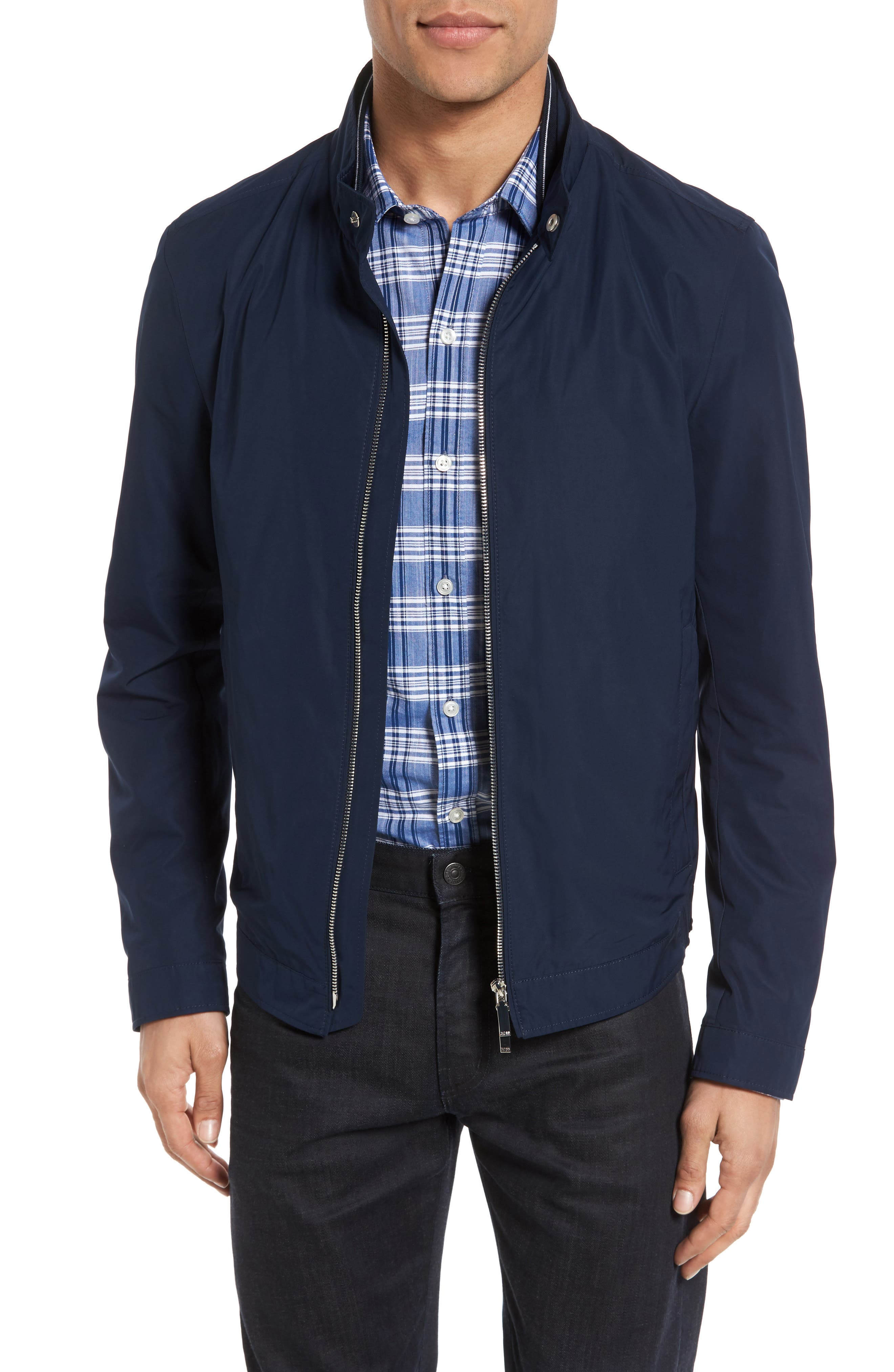 Alternate Image 1 Selected - BOSS Cael Zip Front Jacket