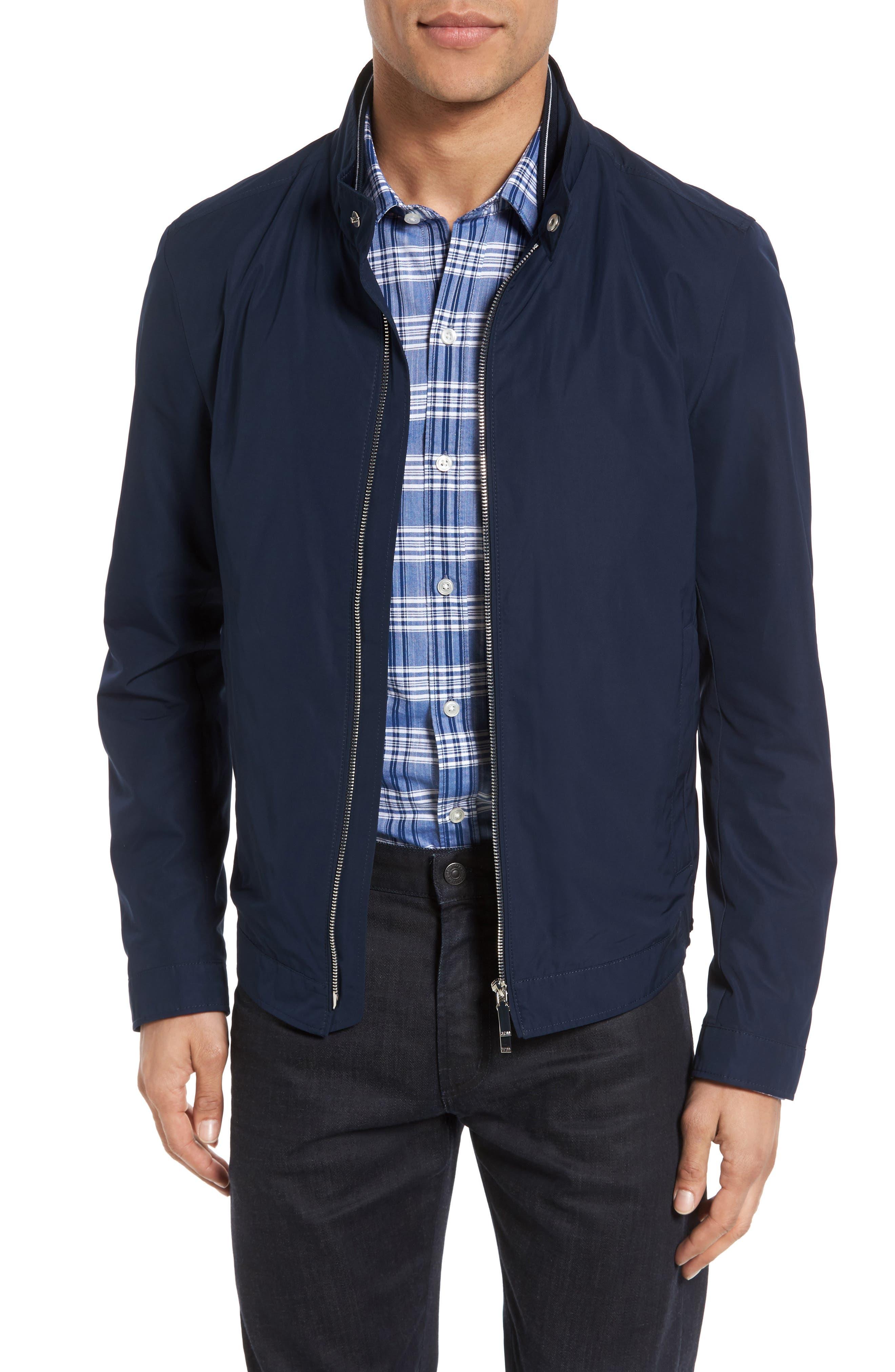 Main Image - BOSS Cael Zip Front Jacket