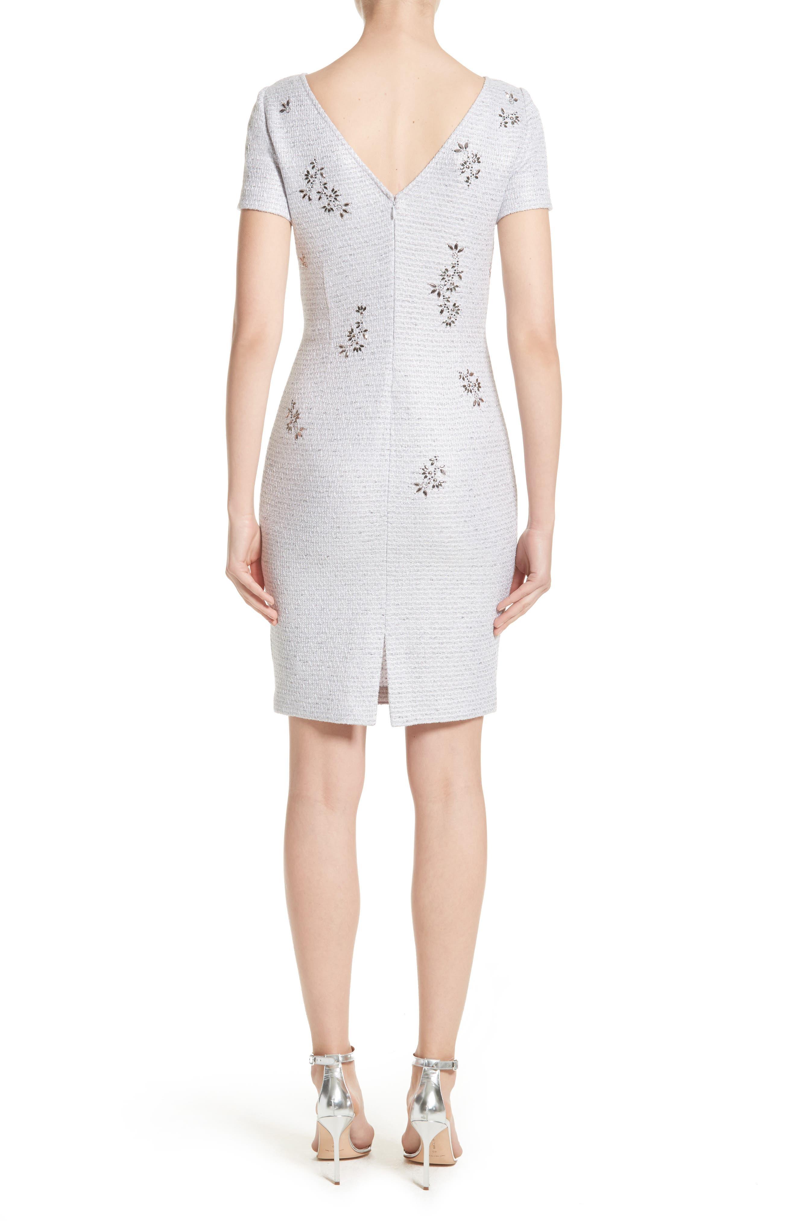 Embellished Shimmer Knit Dress,                             Alternate thumbnail 2, color,                             Lavender