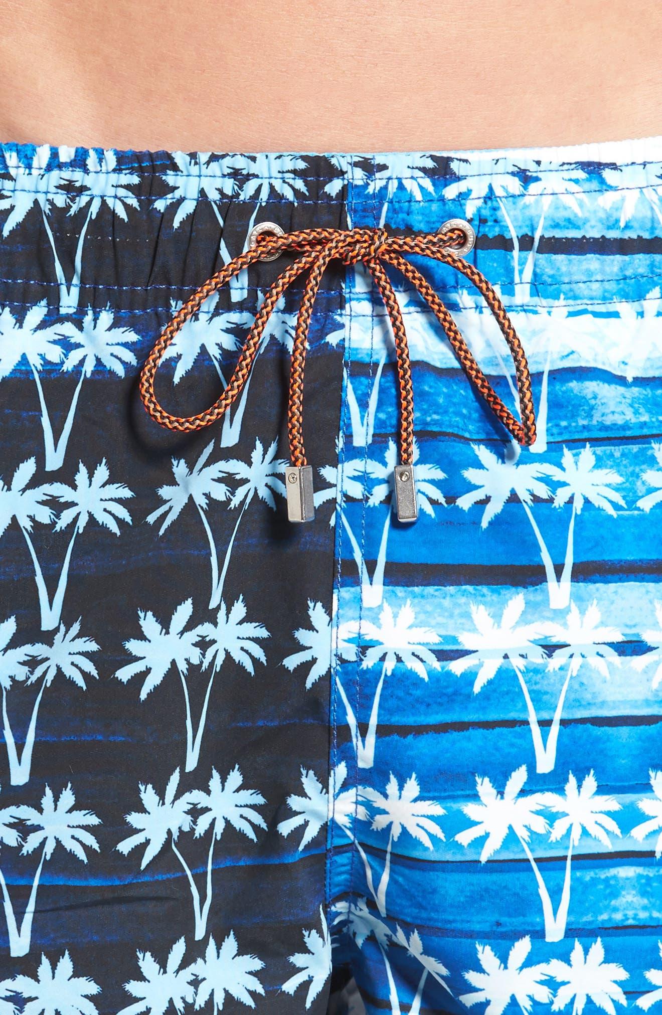 Alternate Image 4  - Bugatchi Print Swim Trunks