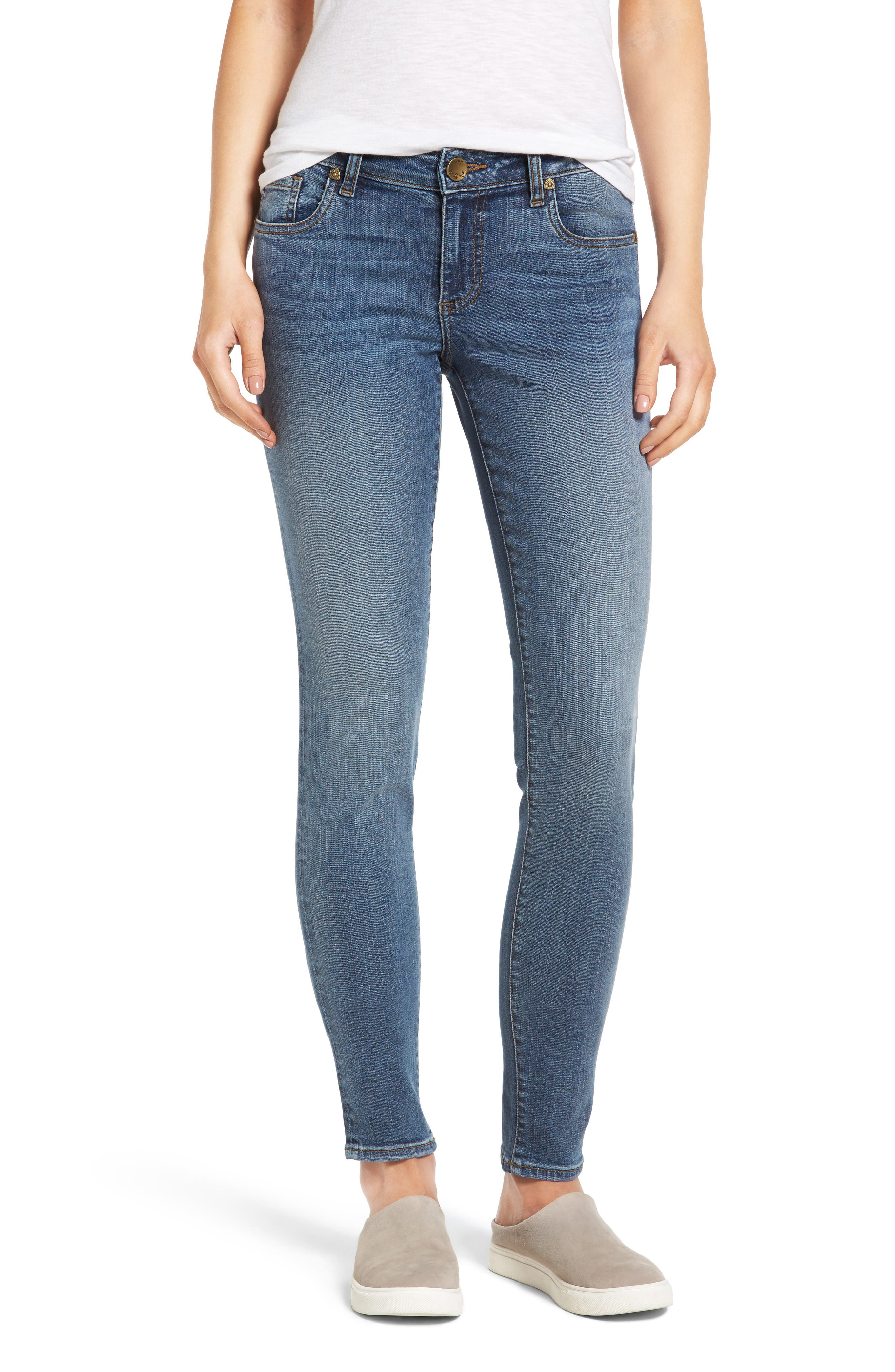 Donna Skinny Jeans,                         Main,                         color, Commutual