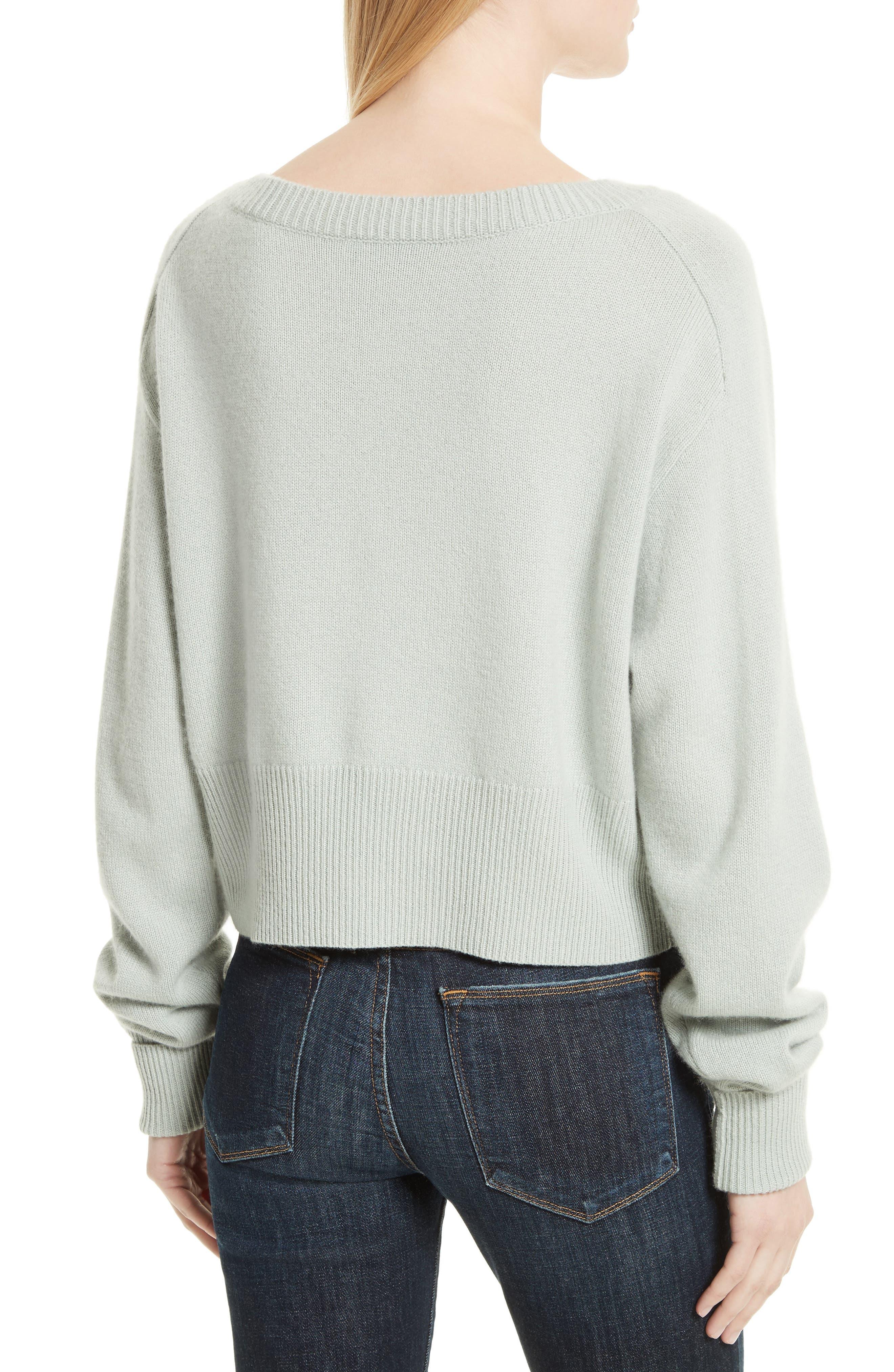 Boat Neck Cashmere Sweater,                             Alternate thumbnail 2, color,                             Light Winter Green