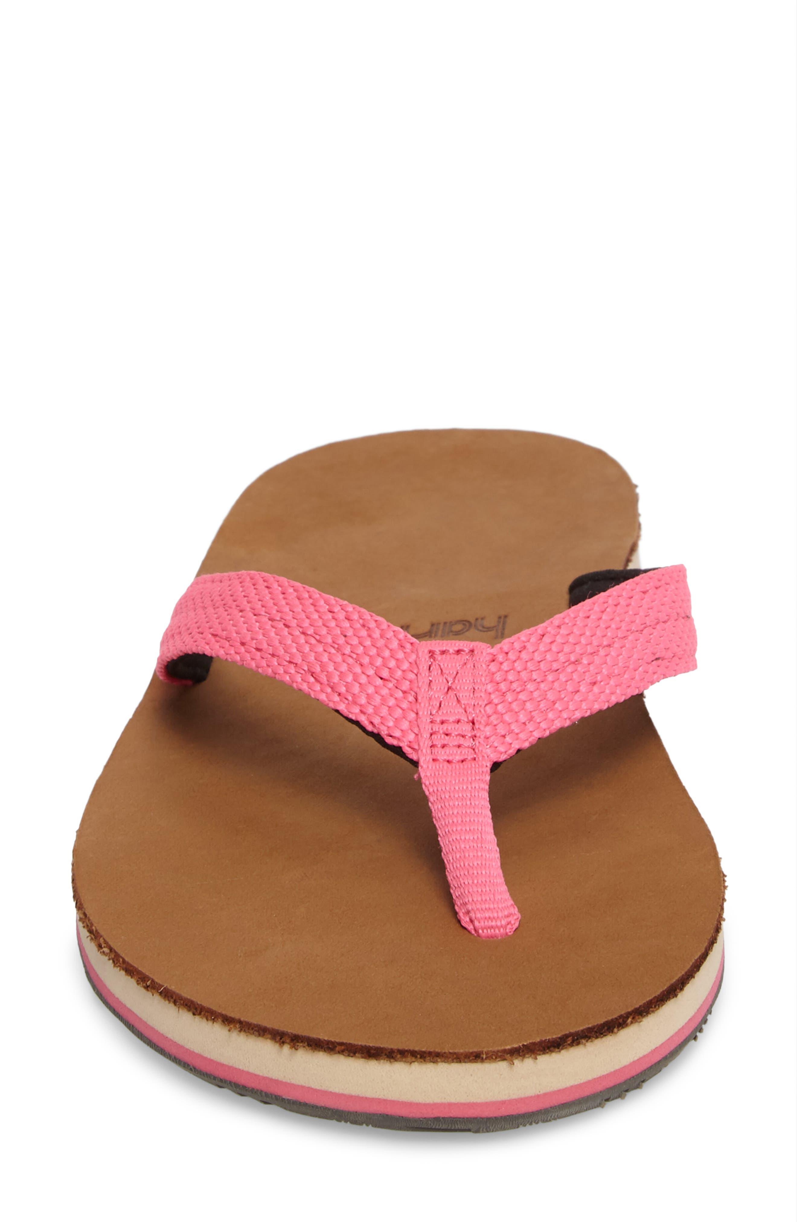 Scouts Flip Flop,                             Alternate thumbnail 4, color,                             Neon Pink/ Black