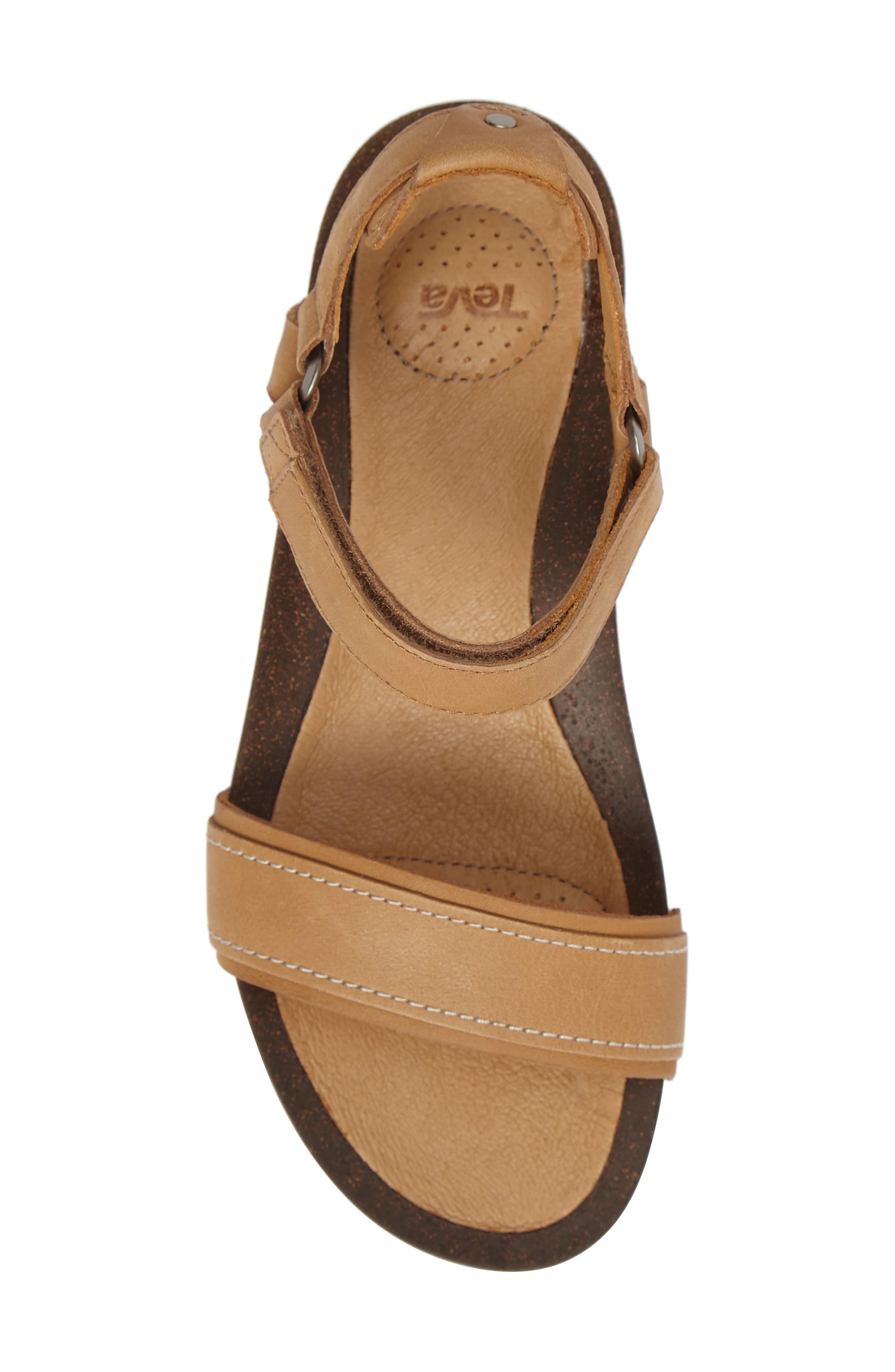Ysidro Stitch Sandal,                             Alternate thumbnail 5, color,                             Tan Leather