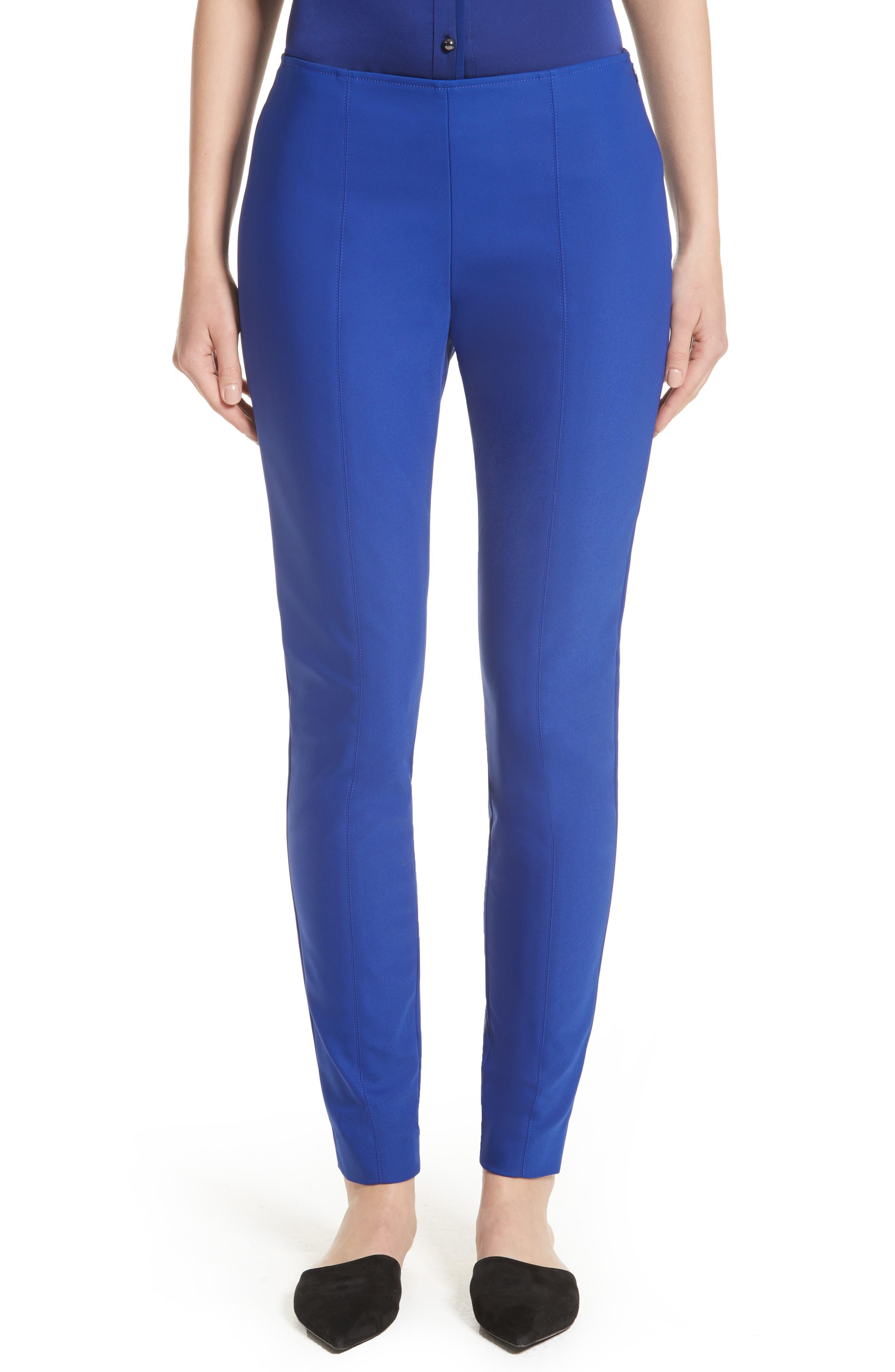 Scuba Bi-Stretch Crop Leggings,                         Main,                         color, Lazuli