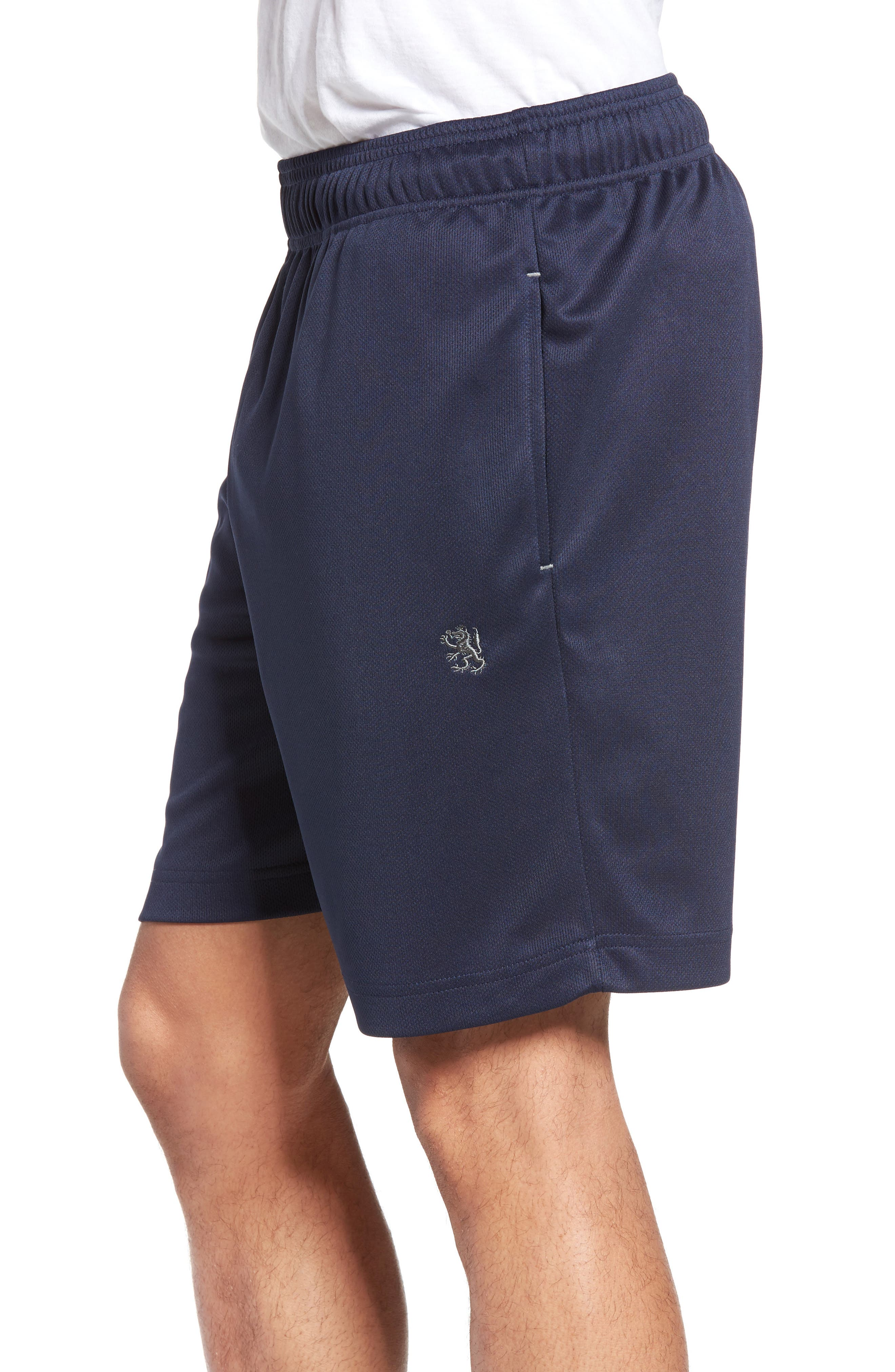 Work Out Lounge Shorts,                             Alternate thumbnail 3, color,                             Navy