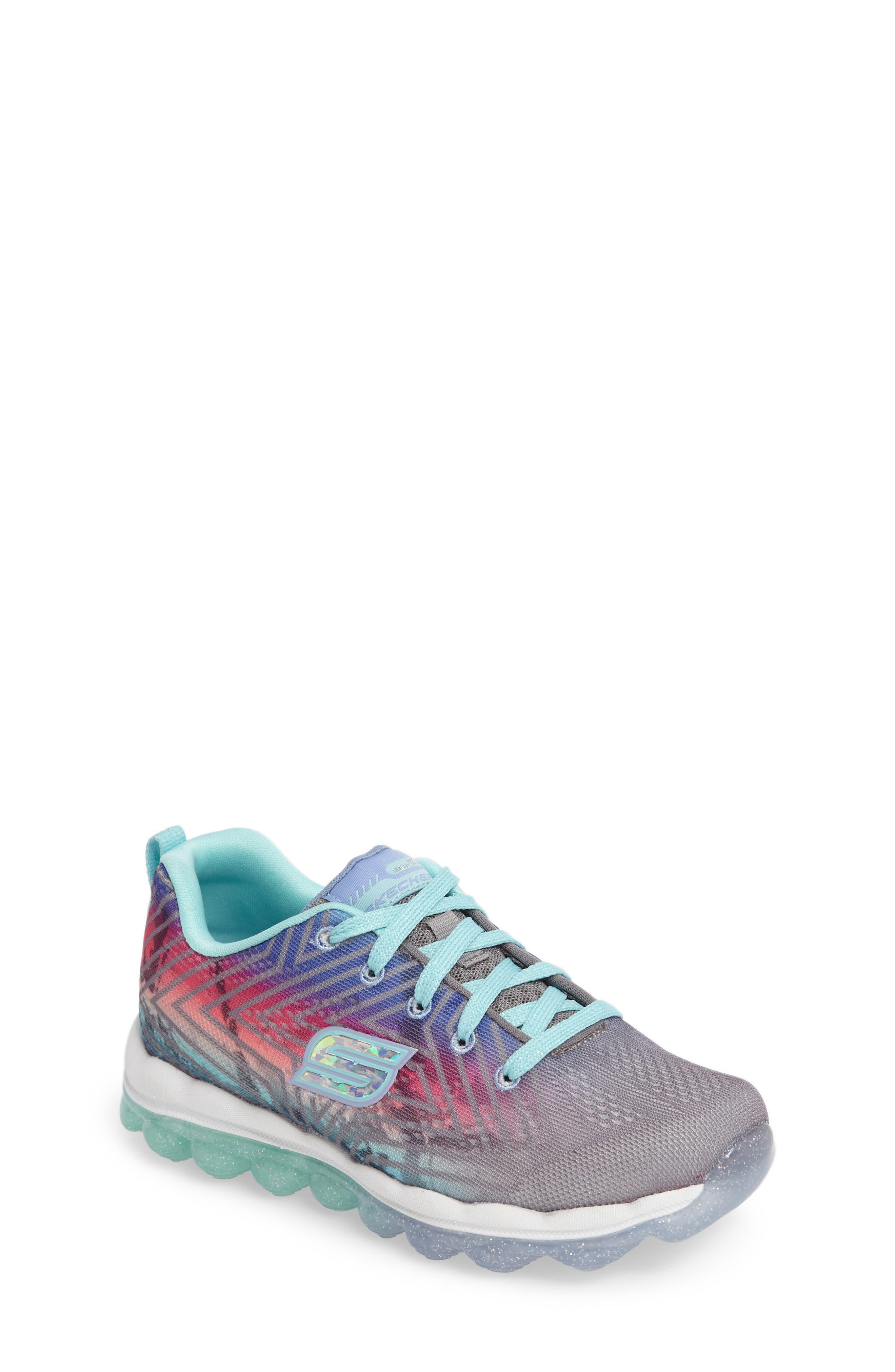 Skech-Air Jump Around Sneaker,                             Main thumbnail 1, color,                             Grey/ Multi