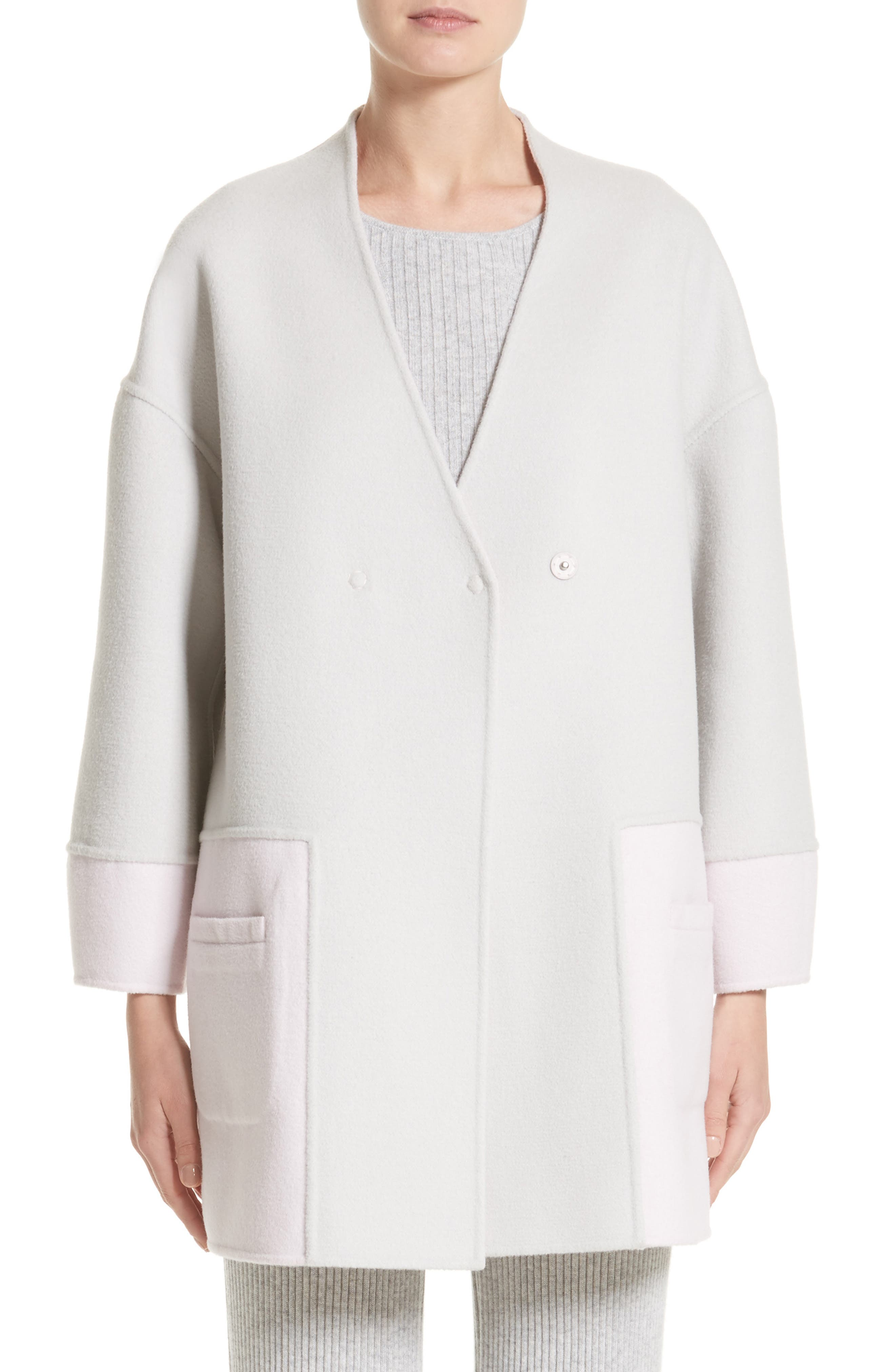 Main Image - St. John Collection Reversible Wool Blend Cocoon Coat