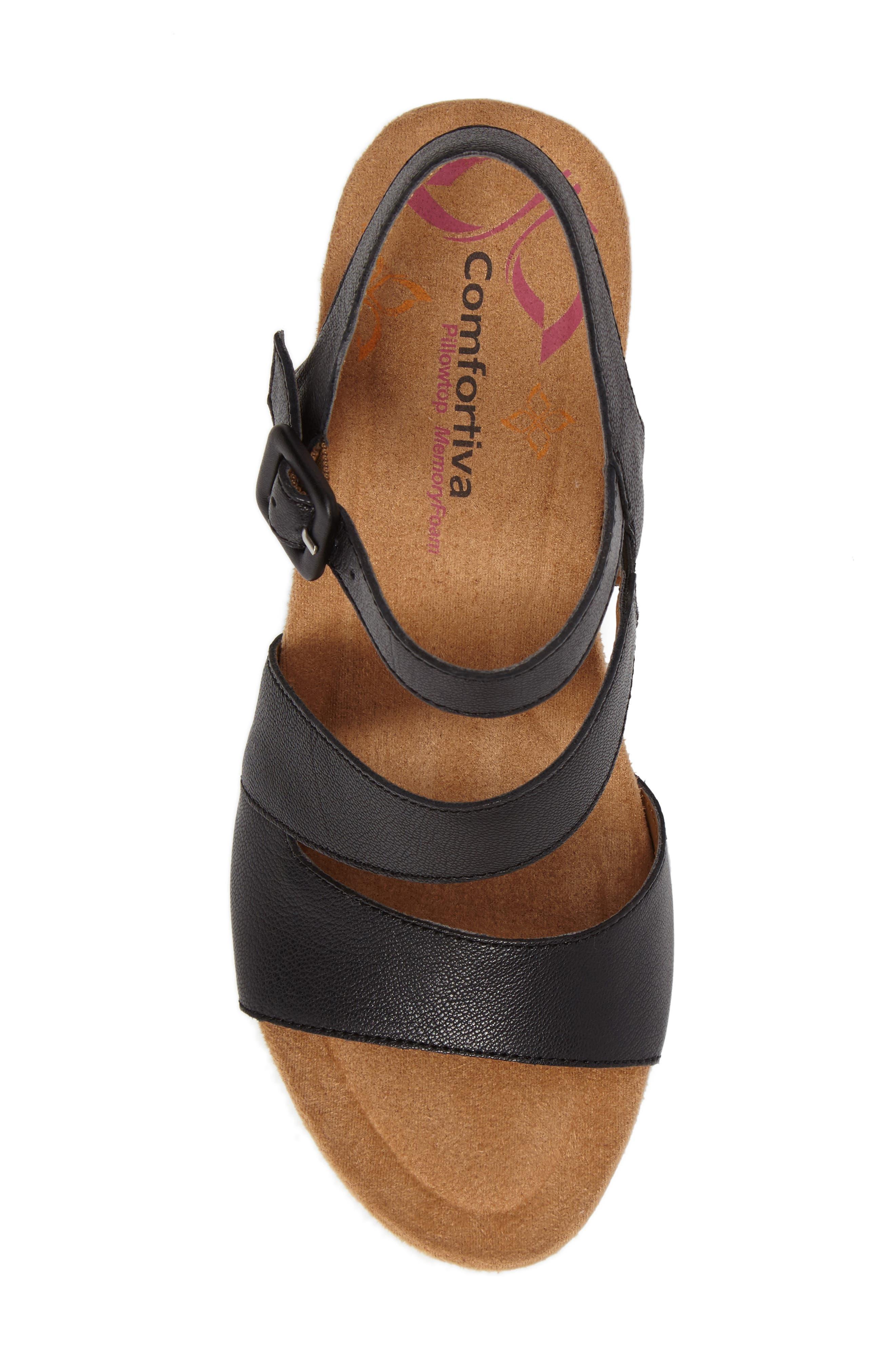 Alternate Image 5  - Comfortiva Violet Wedge Sandal (Women)