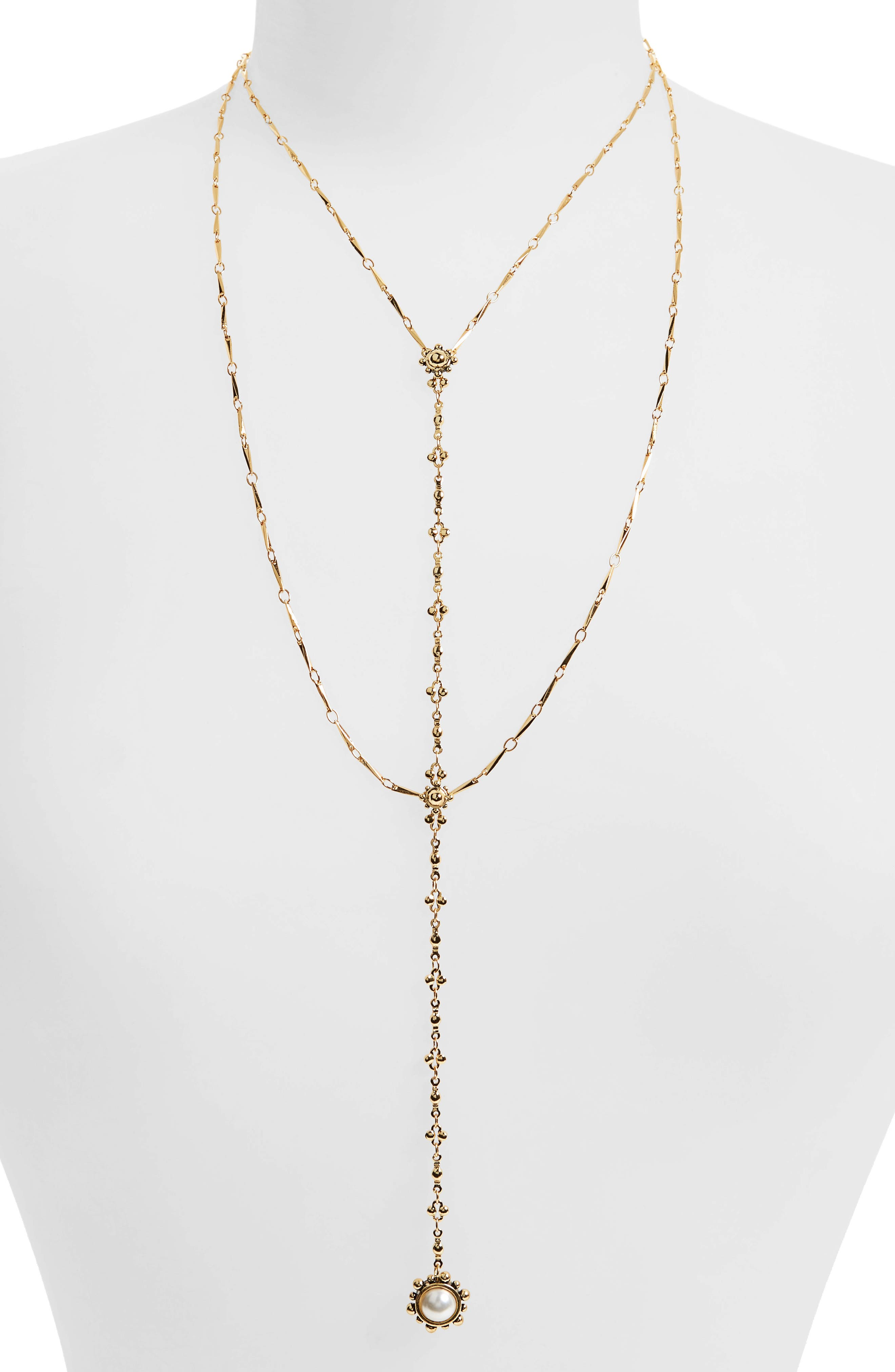 Alternate Image 1 Selected - Luv AJ Lariat Necklace