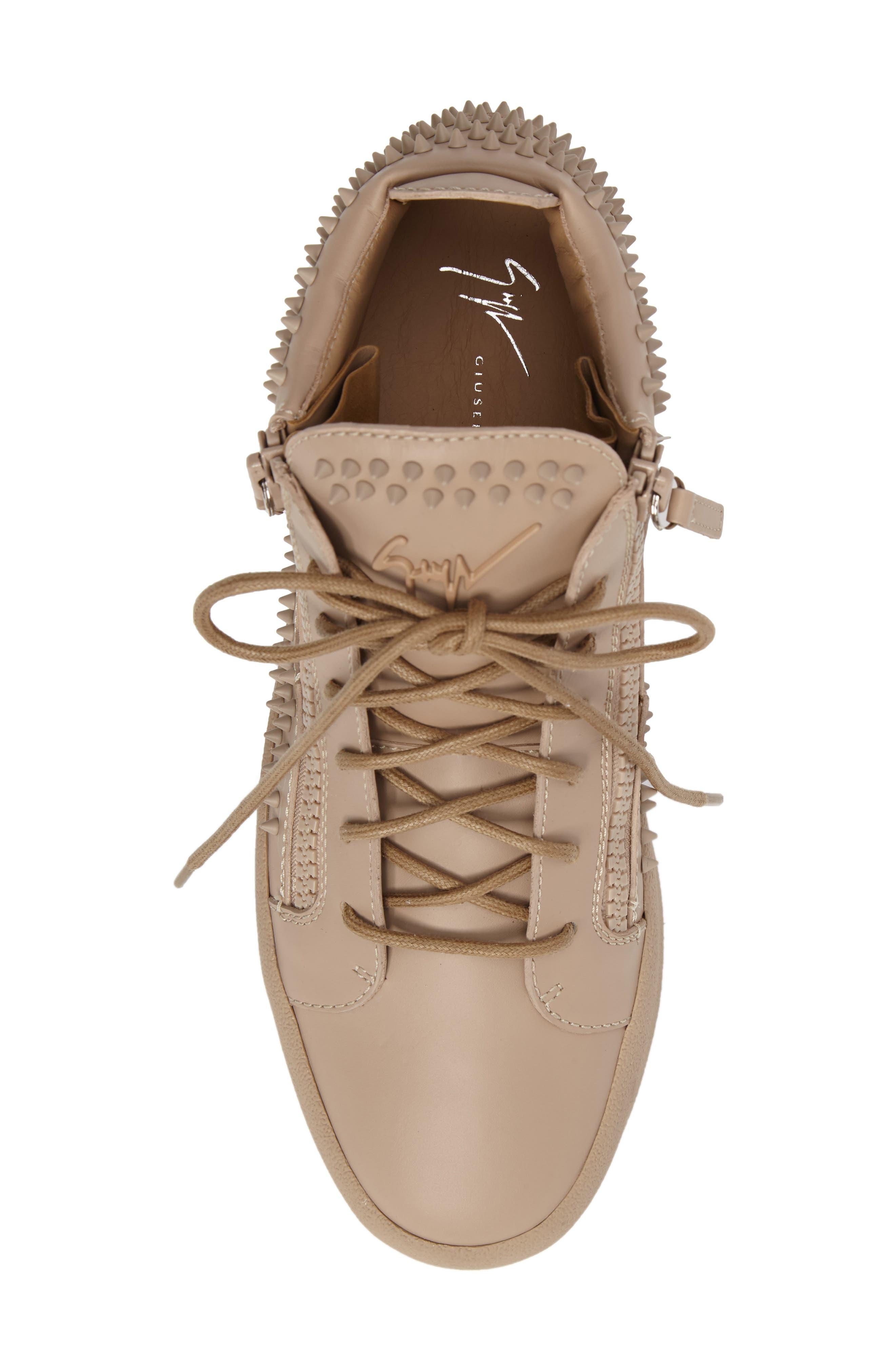 Studded Mid Top Sneaker,                             Alternate thumbnail 5, color,                             Tan/ Birel Sughero