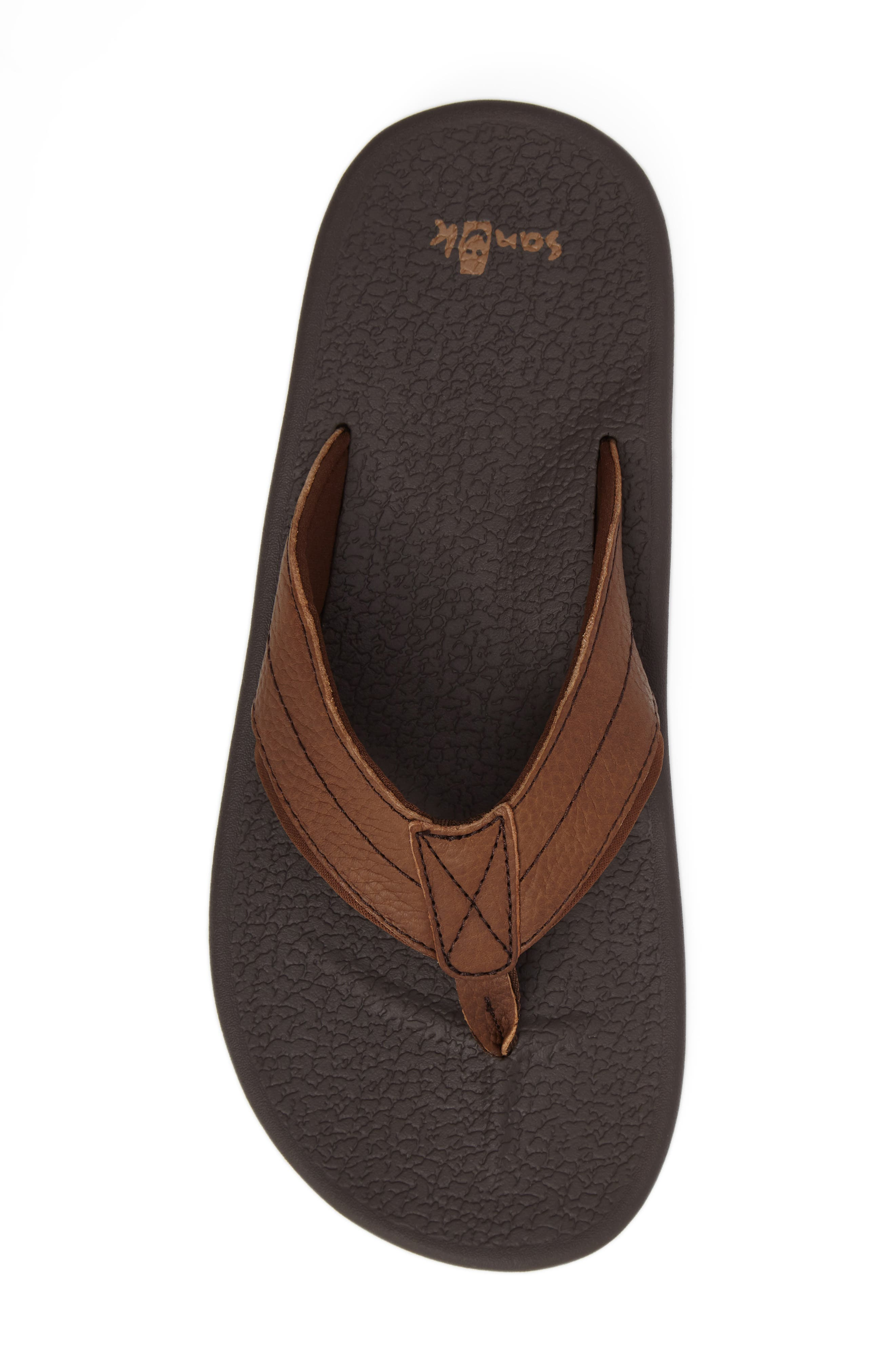 Brumesiter Primo Flip Flop,                             Alternate thumbnail 5, color,                             Brown Leather