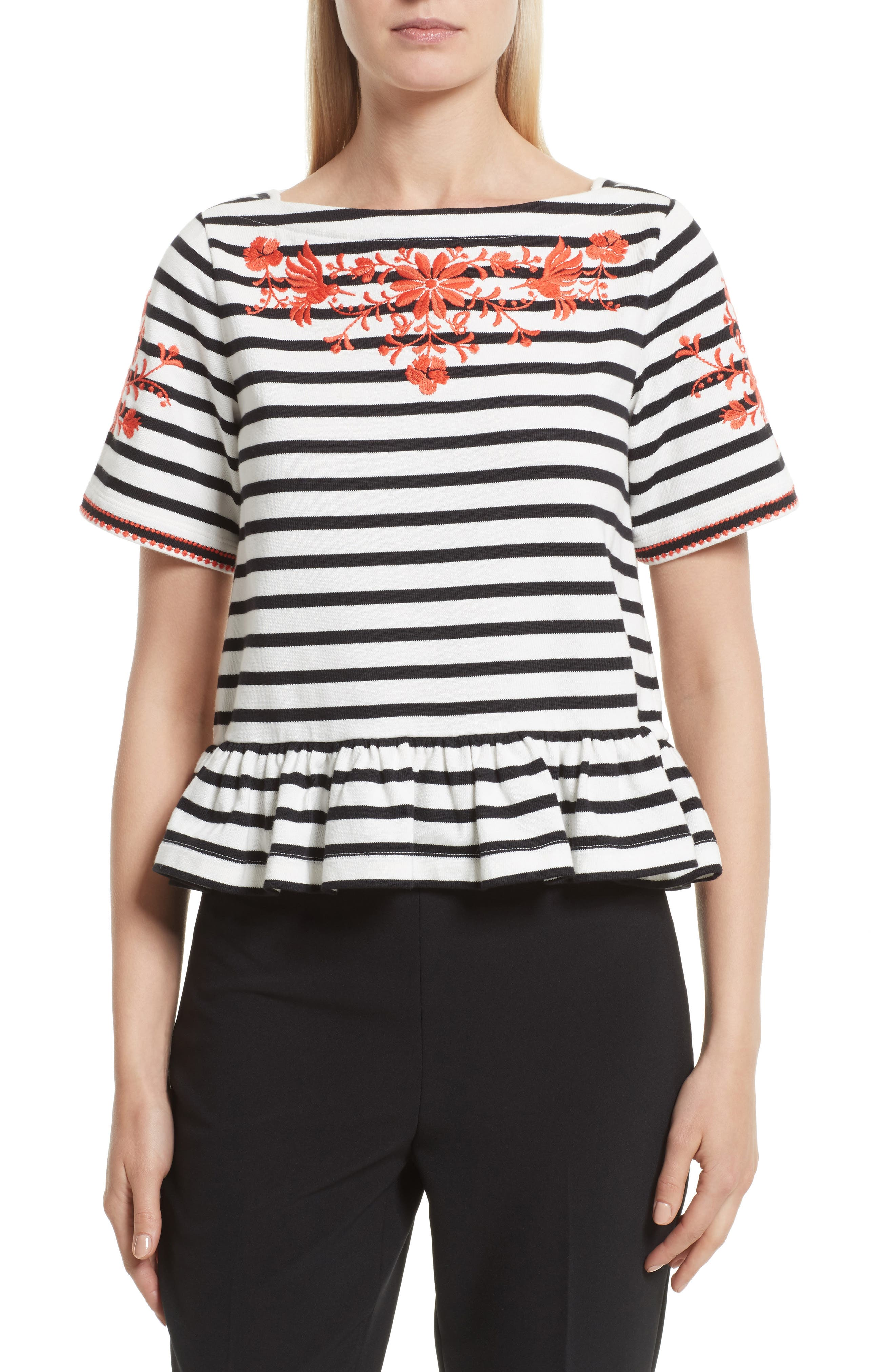 kate spade new york embroidered tee