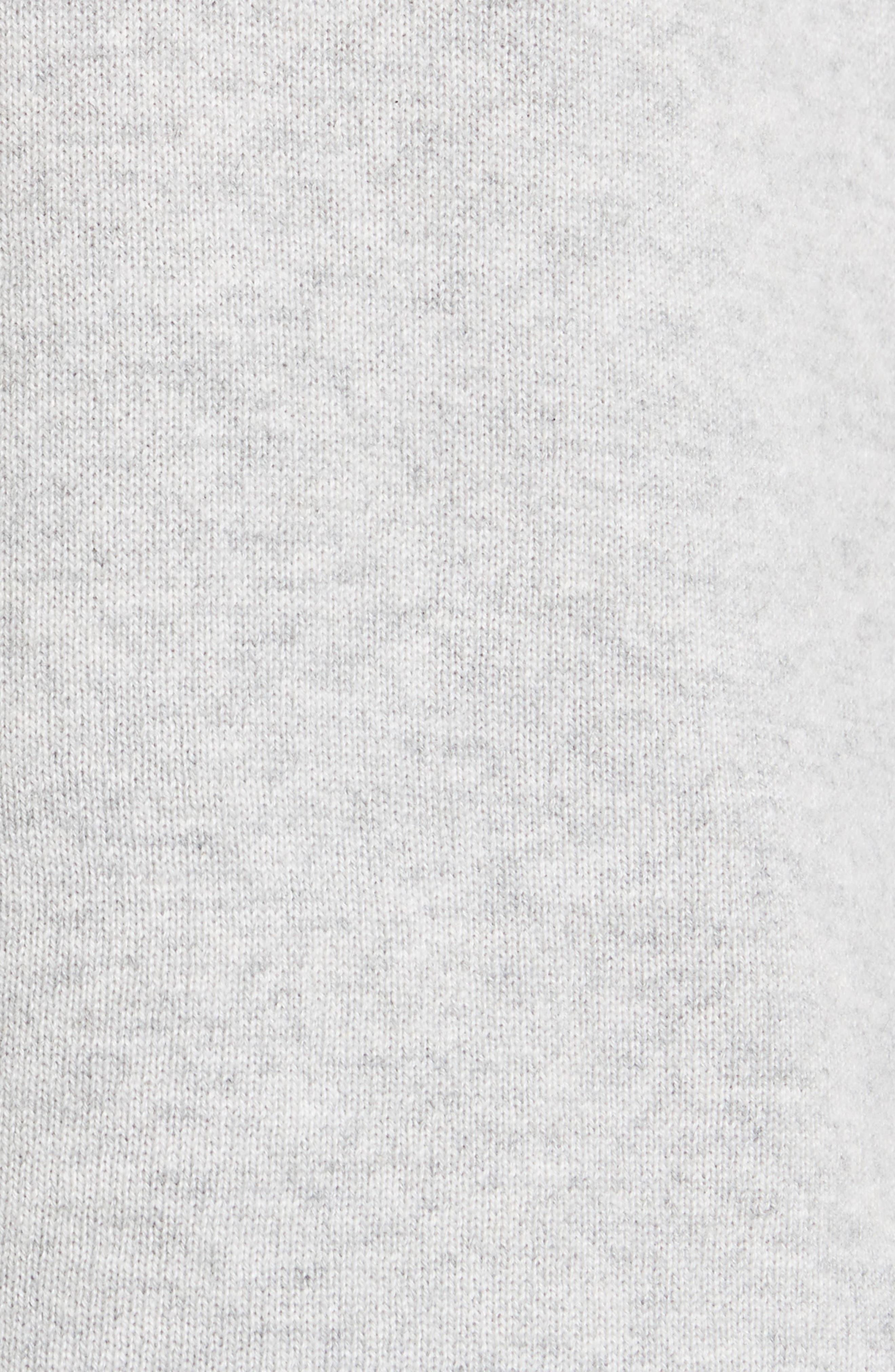 Micro Sequin Stripe Reverse Jersey Cashmere Blend Sweater,                             Alternate thumbnail 5, color,                             Light Grey Melange