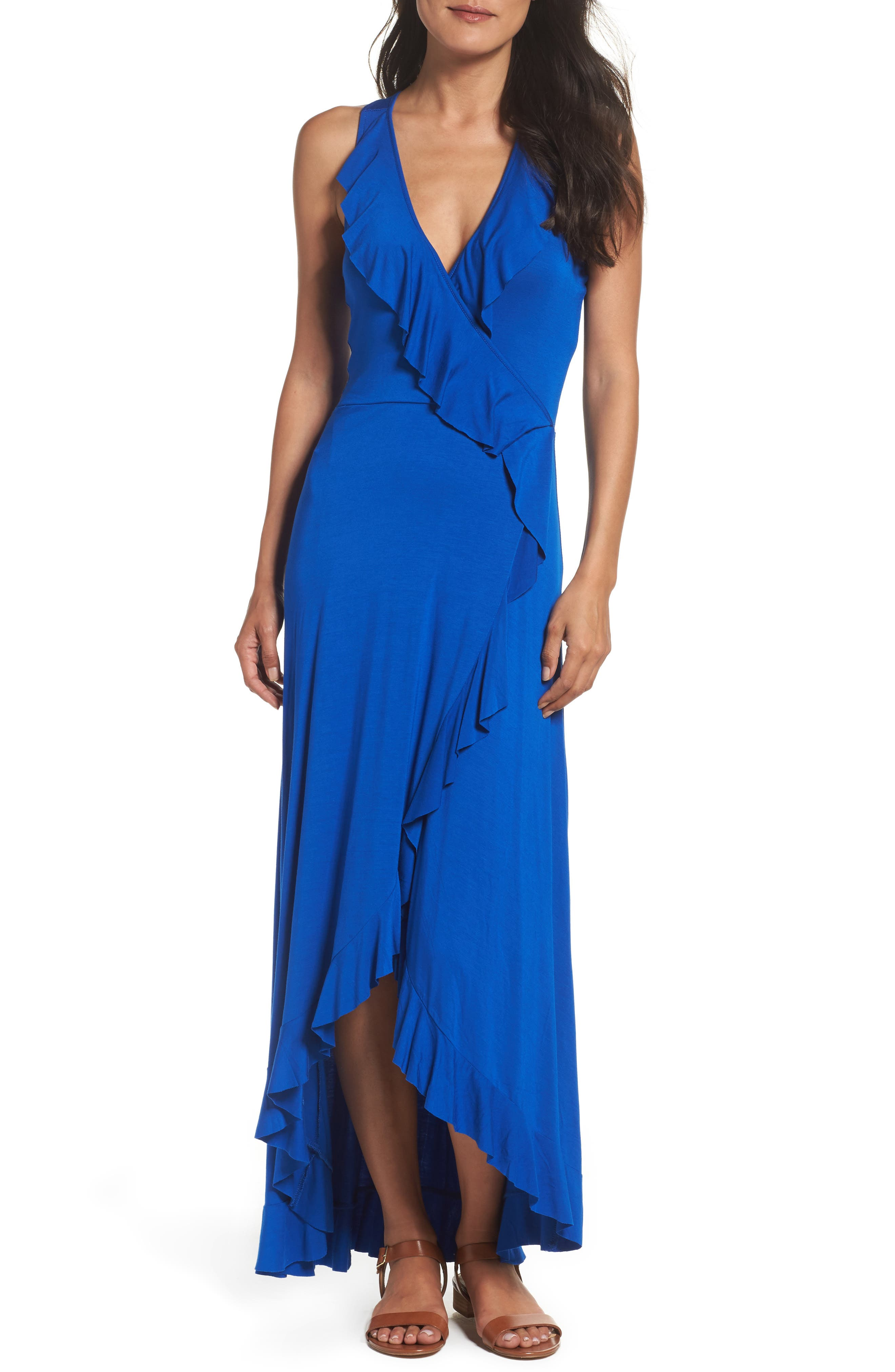 Felicity & Coco Ruffle Maxi Dress (Regular & Petite) (Nordstrom Exclusive)