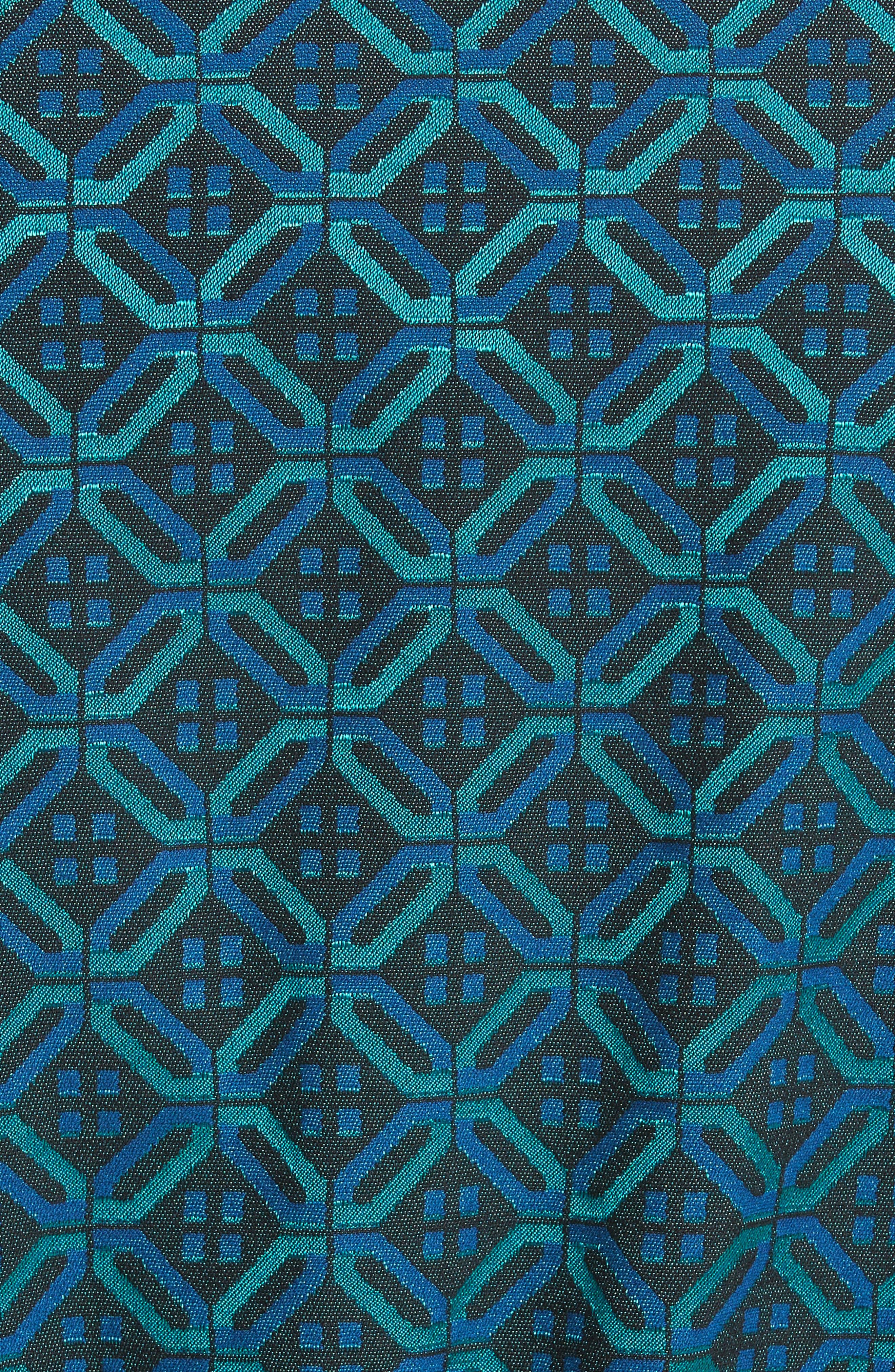 Alternate Image 5  - St. John Collection Tile Jacquard Funnel Neck Jacket