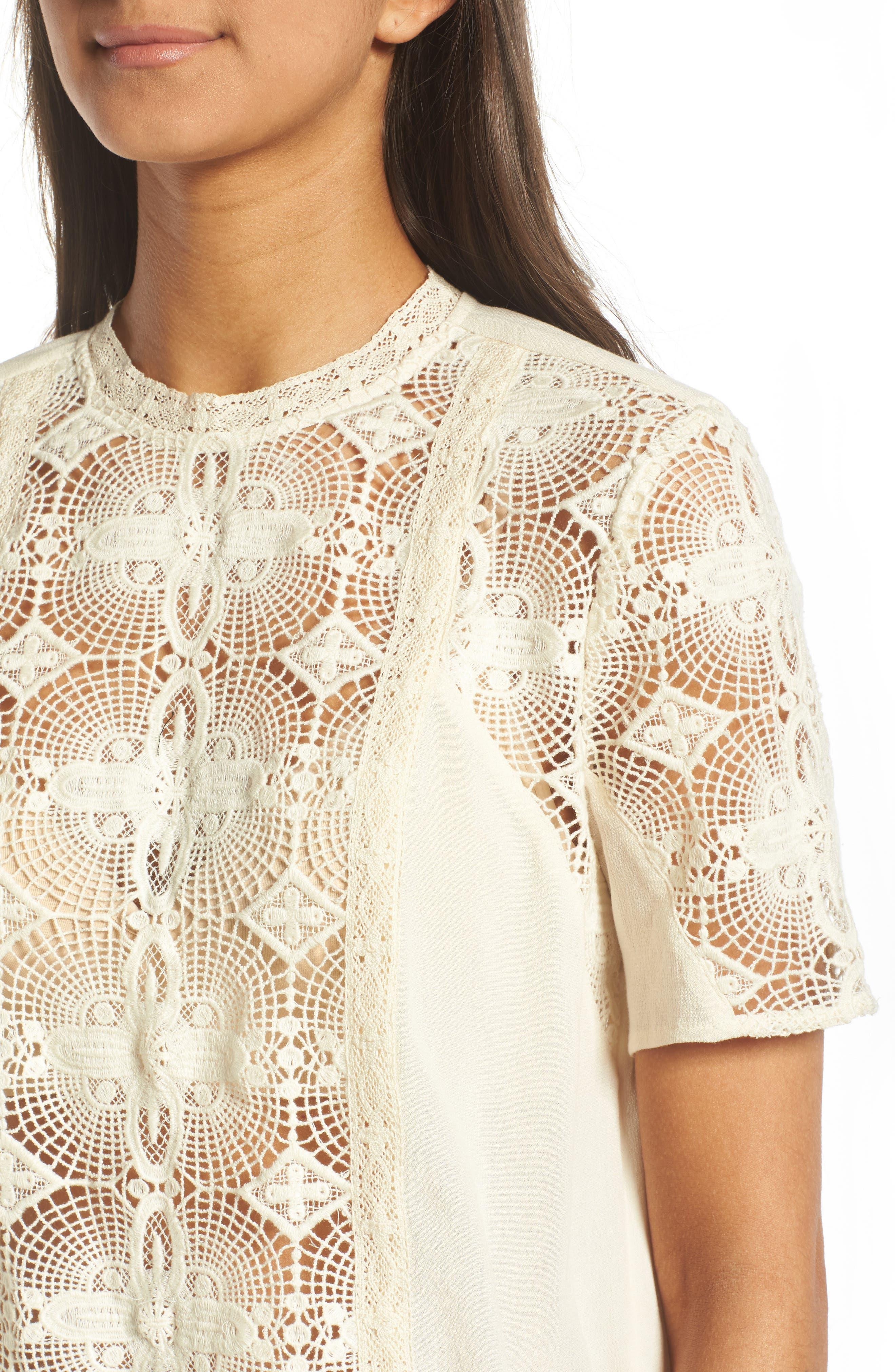 Alternate Image 4  - Hinge Vintage Lace Top