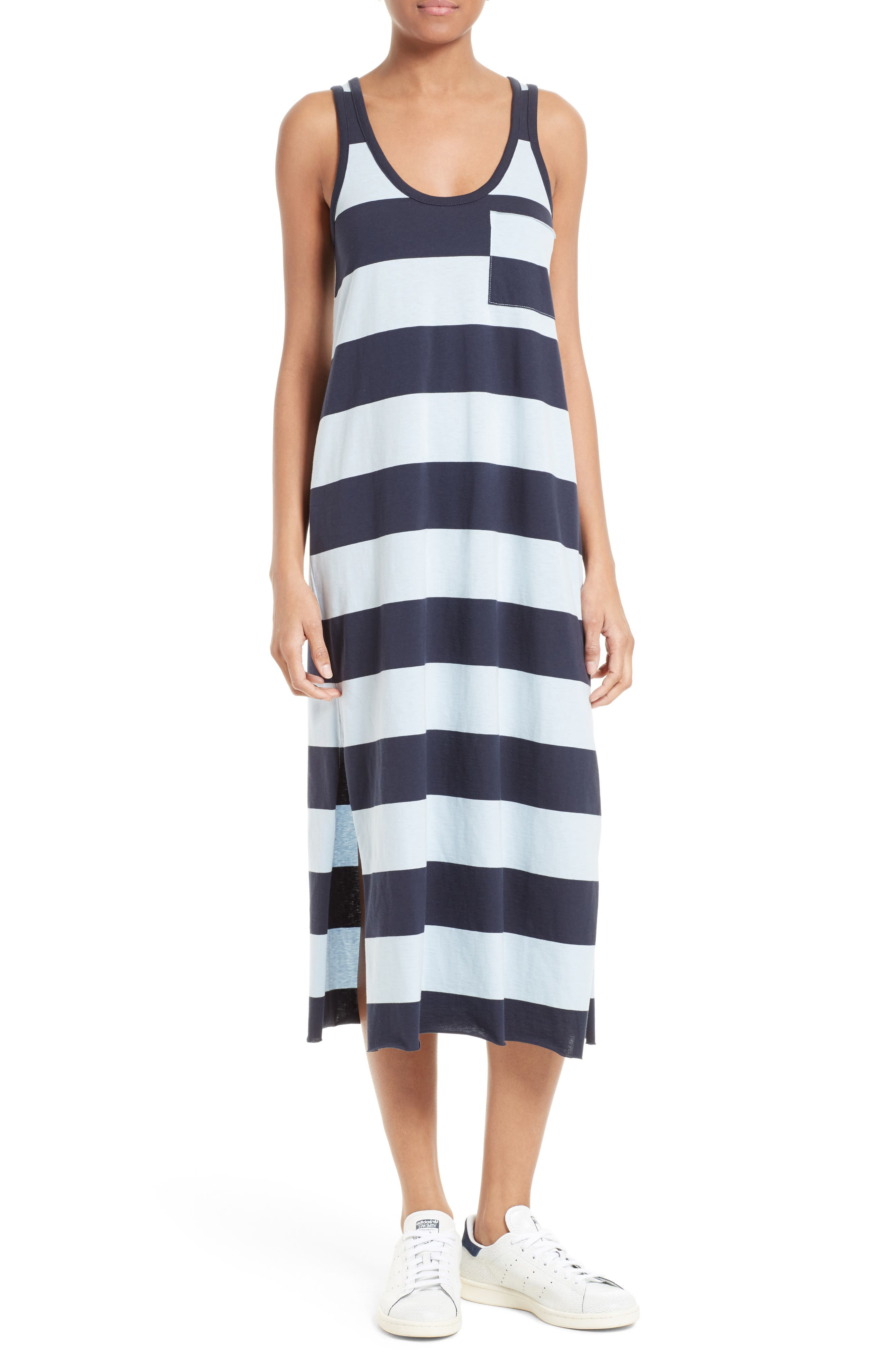Alternate Image 1 Selected - ATM Anthony Thomas Melillo Stripe Mercerized Jersey Dress