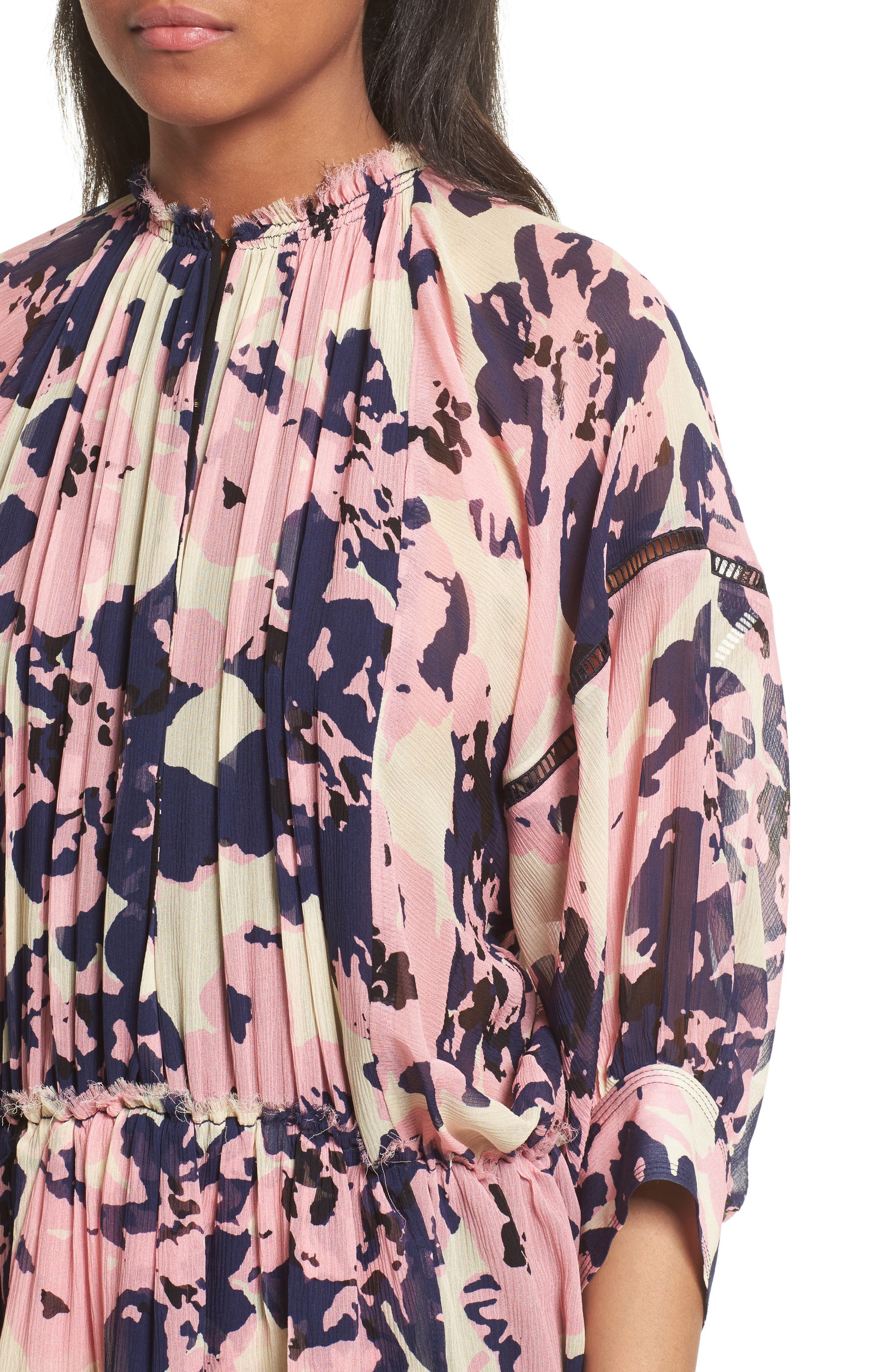 Alternate Image 4  - Apiece Apart Nueva Puebla Print Silk Minidress