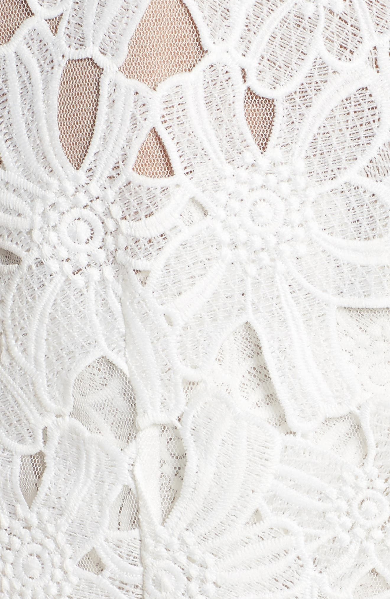 Cecila Lace Sheath Dress & Jacket Set,                             Alternate thumbnail 5, color,                             White/ Chamois
