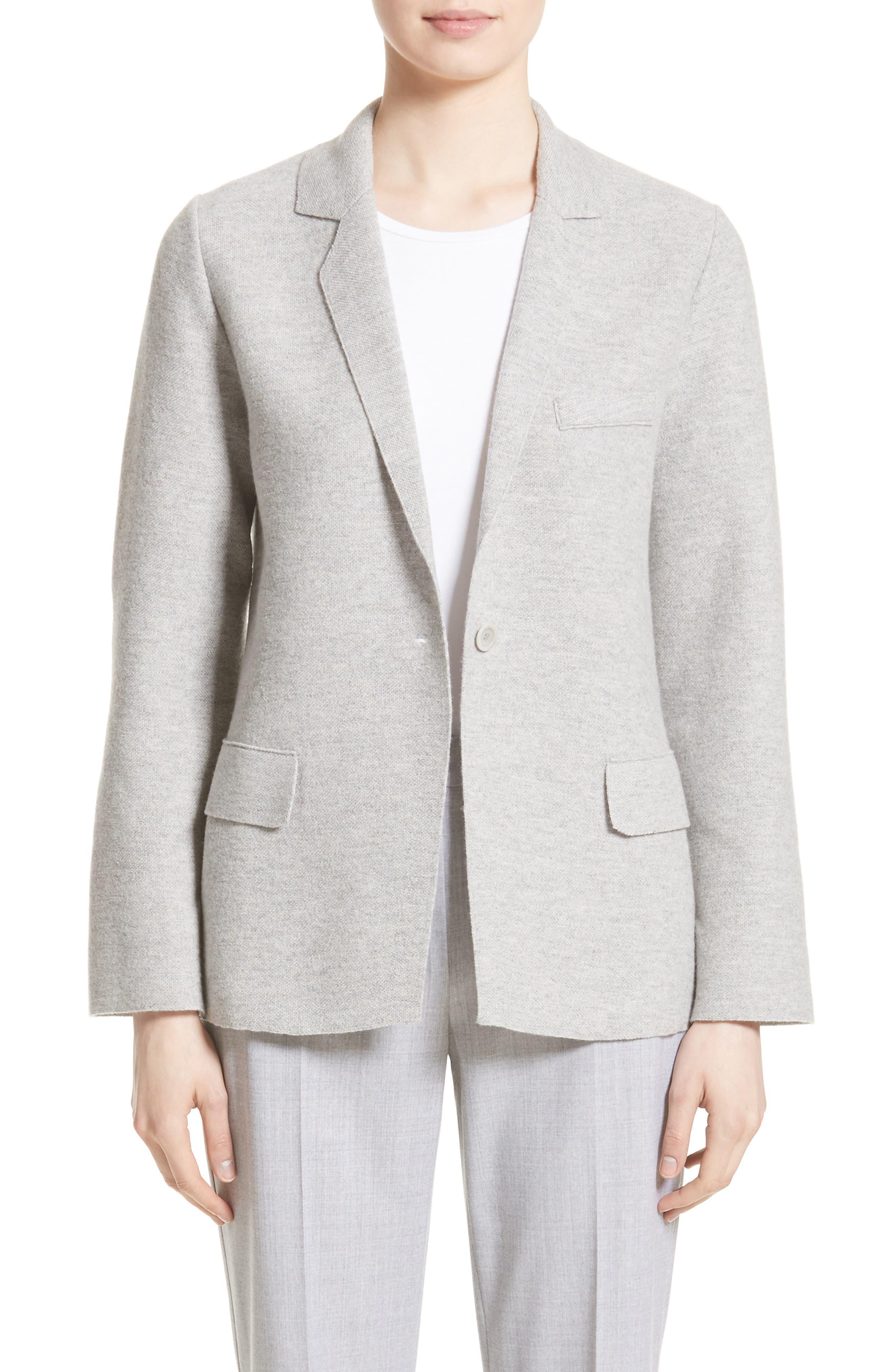 Segnale Cashmere Jacket,                         Main,                         color, Light Grey
