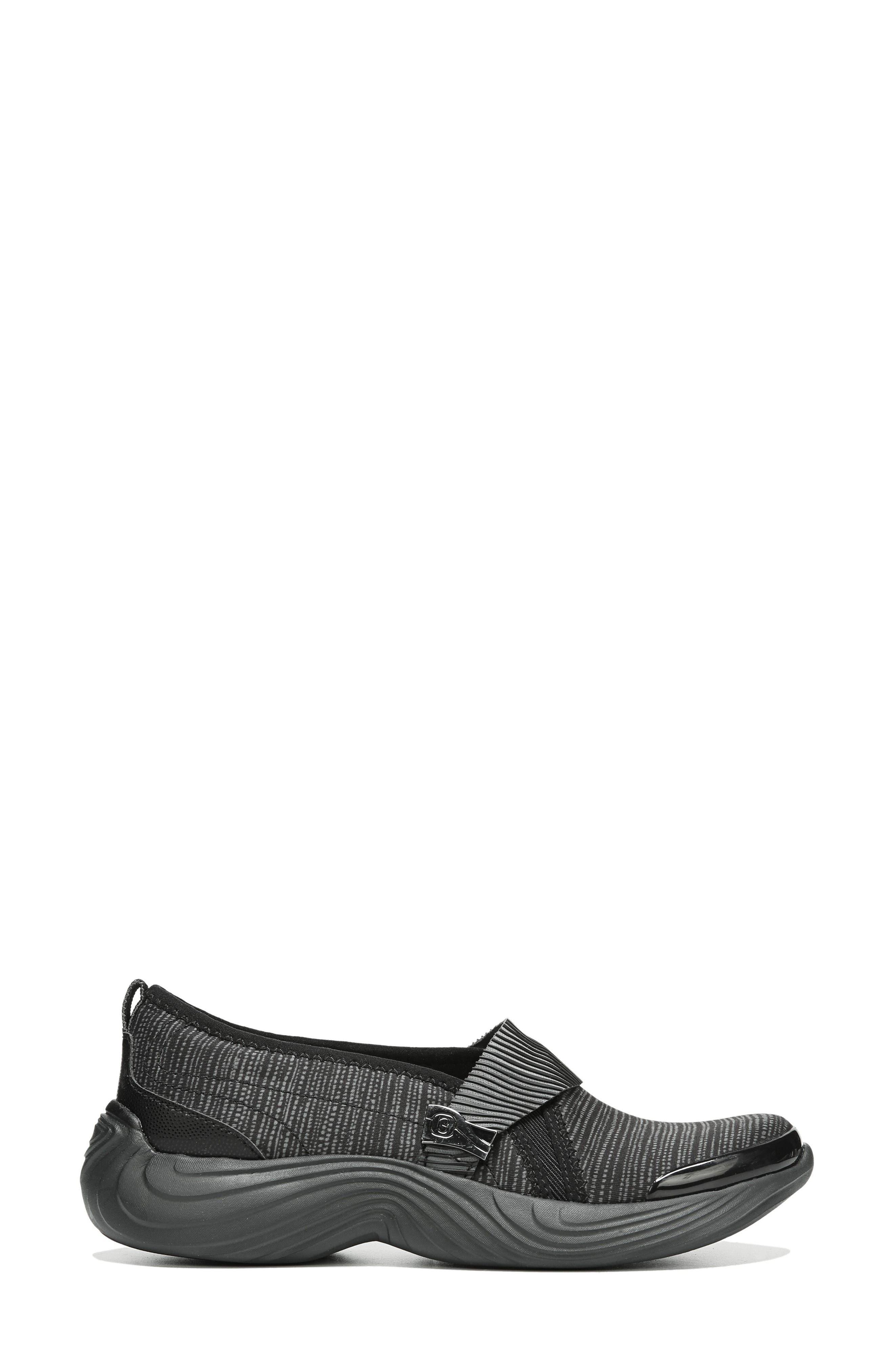Tanza Slip-On,                             Alternate thumbnail 3, color,                             Black Fabric