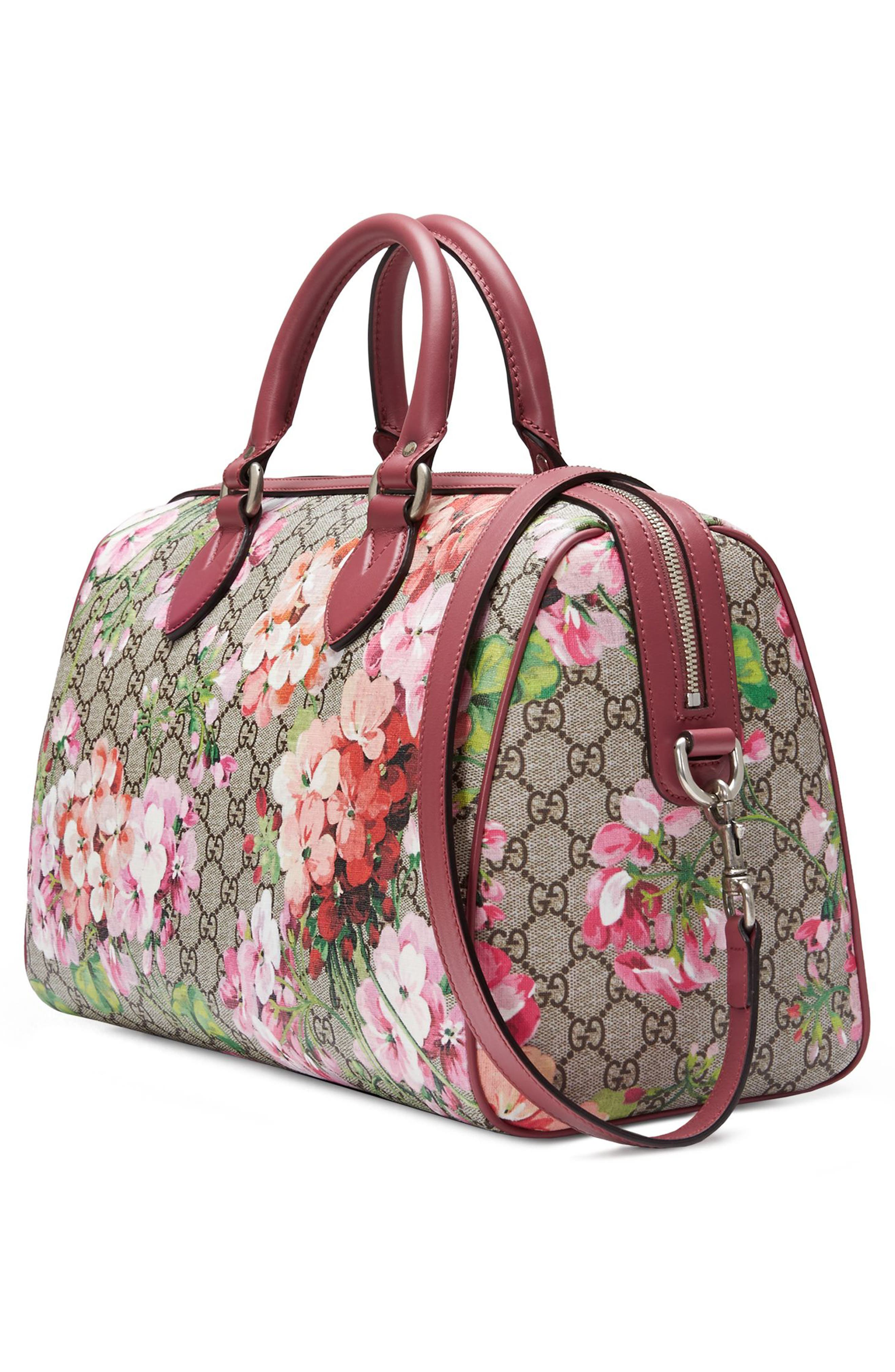 Alternate Image 4  - Gucci Medium Blooms GG Supreme Top Handle Canvas Bag