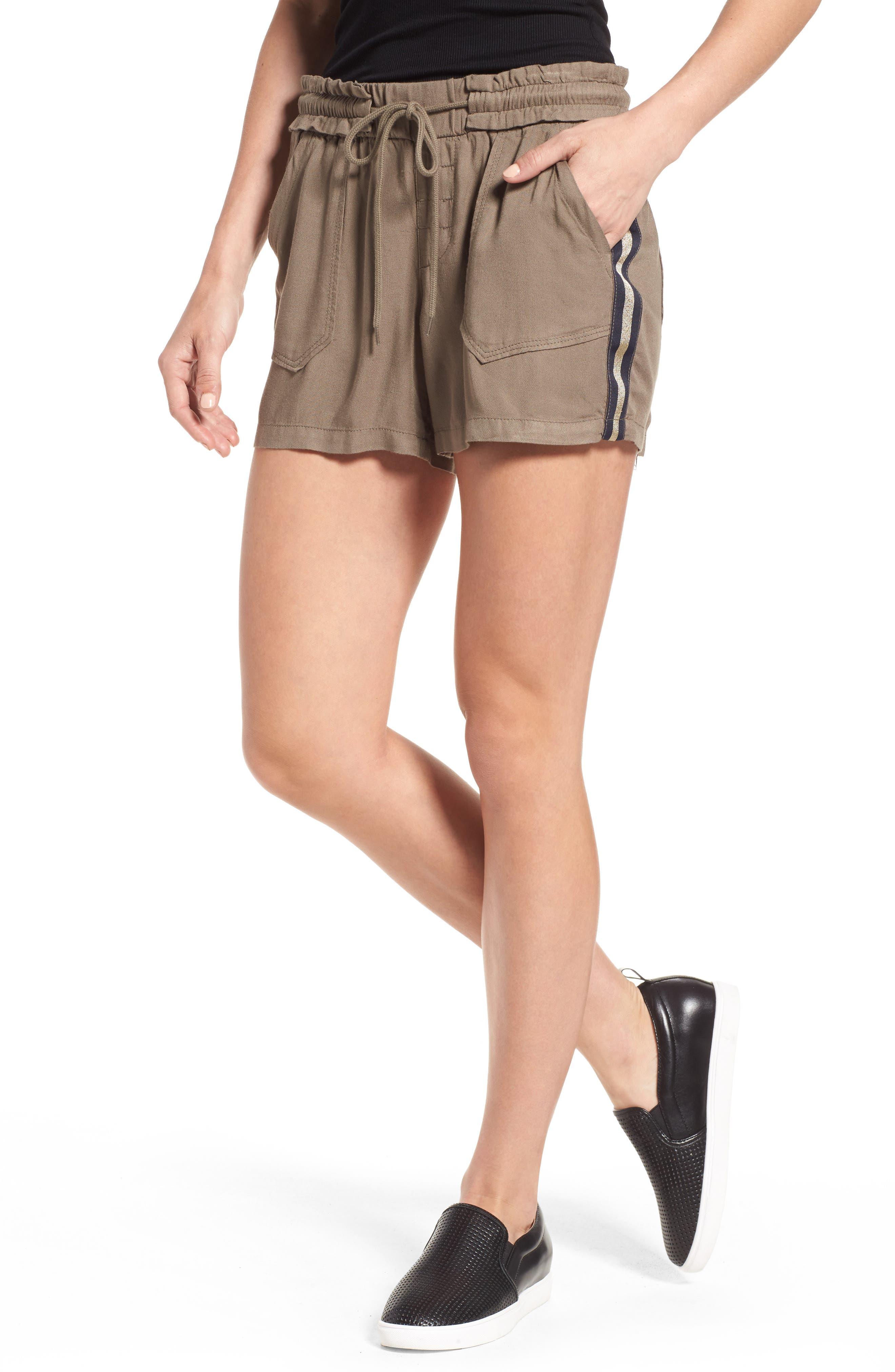 Drawstring Shorts,                             Main thumbnail 1, color,                             Brinde Olive