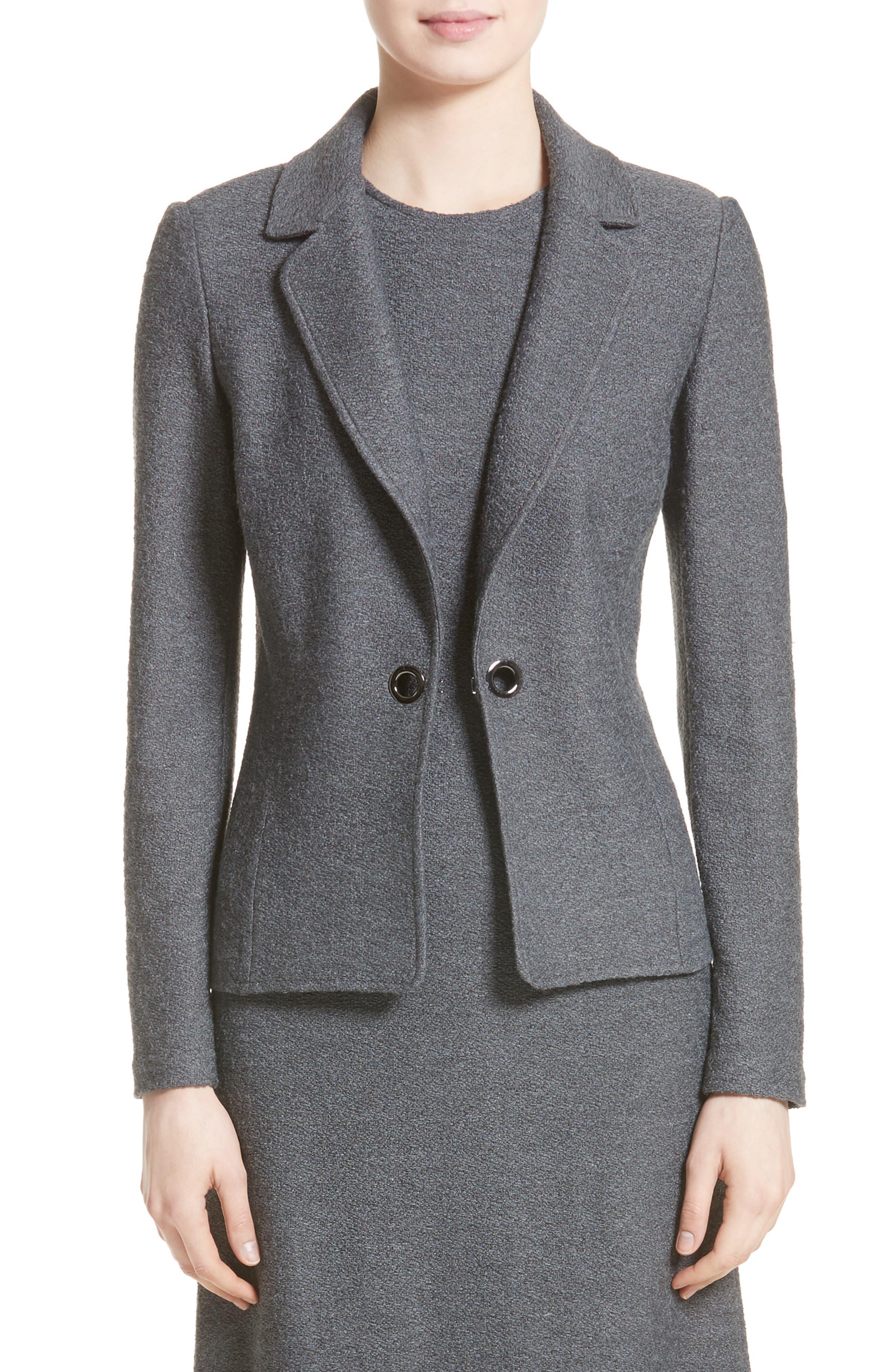 Clair Grommet Detail Knit Jacket,                         Main,                         color, Flint