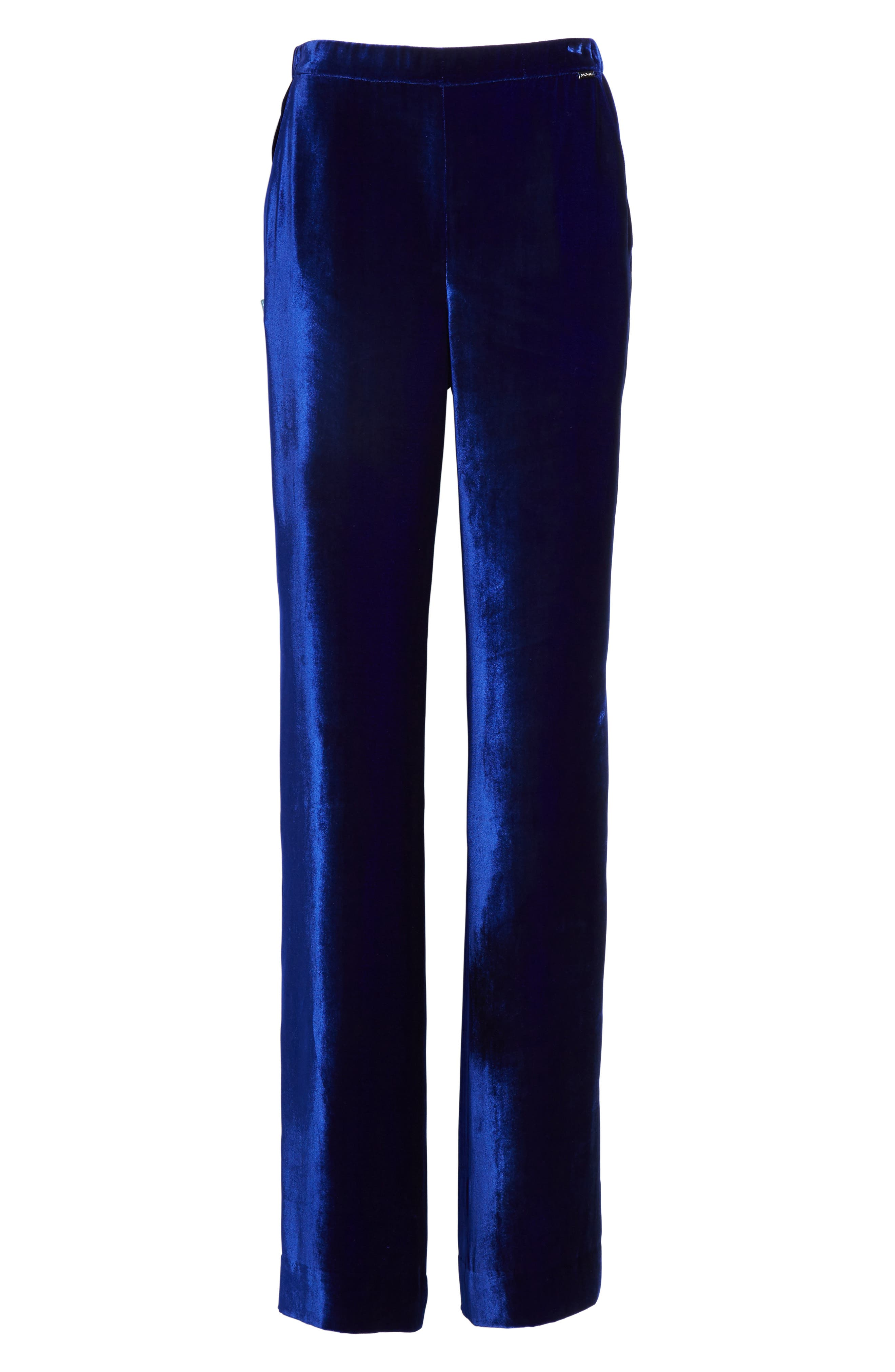 Alternate Image 6  - St. John Collection Velvet Wide Leg Pants