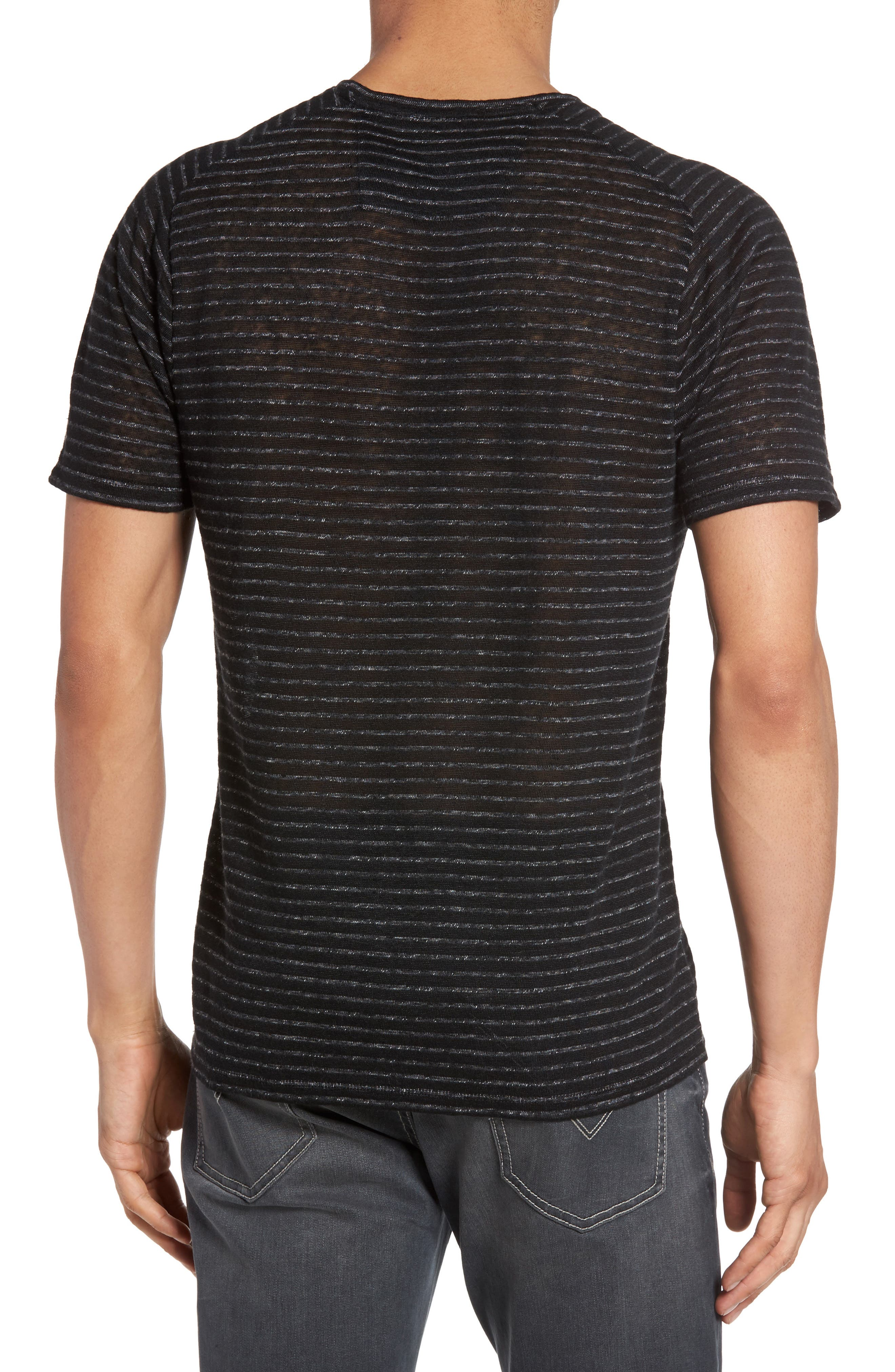 Alternate Image 2  - John Varvatos Star USA Plated Stripe T-Shirt