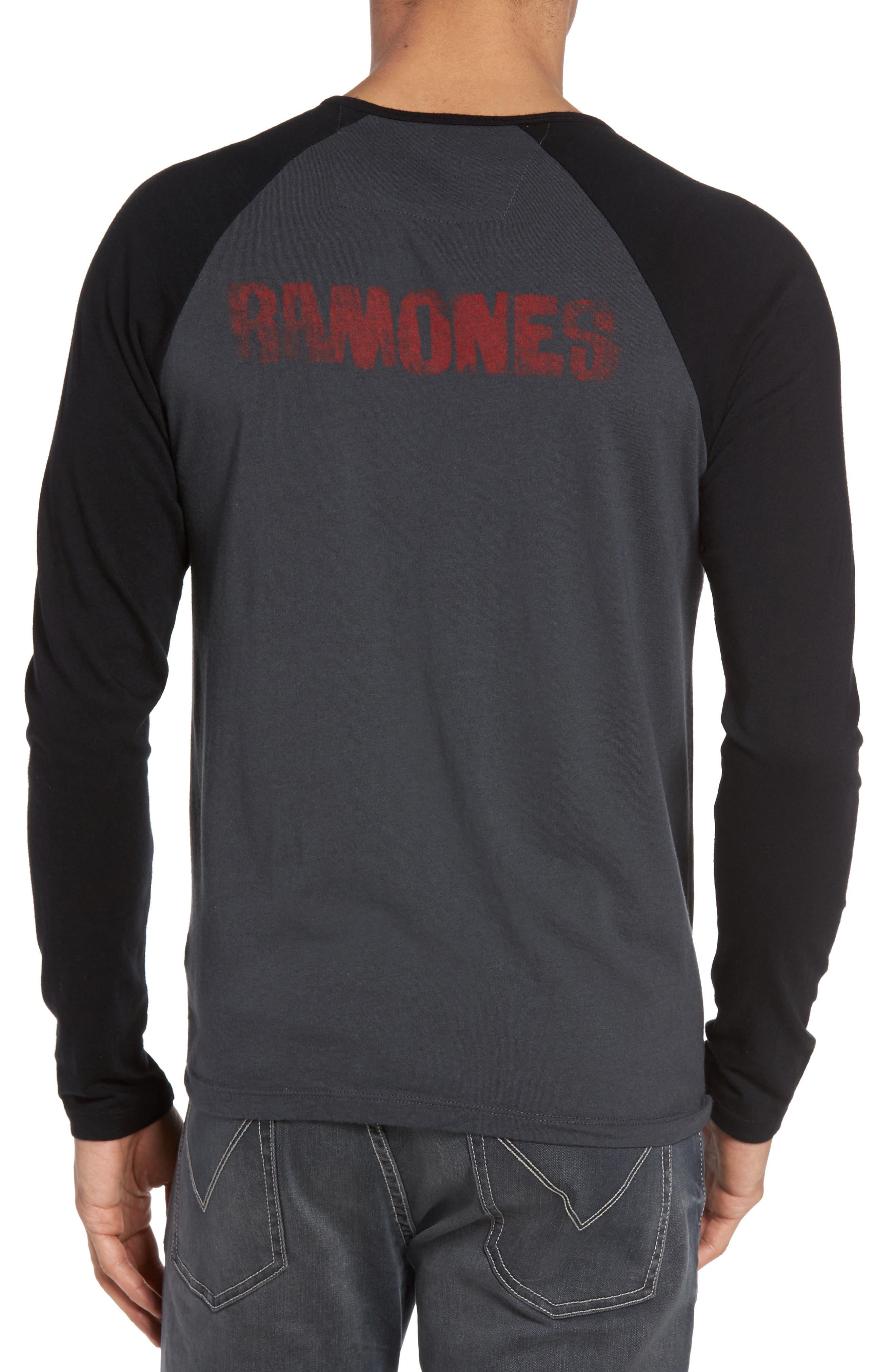Ramones Raglan T-Shirt,                             Alternate thumbnail 2, color,                             Coal