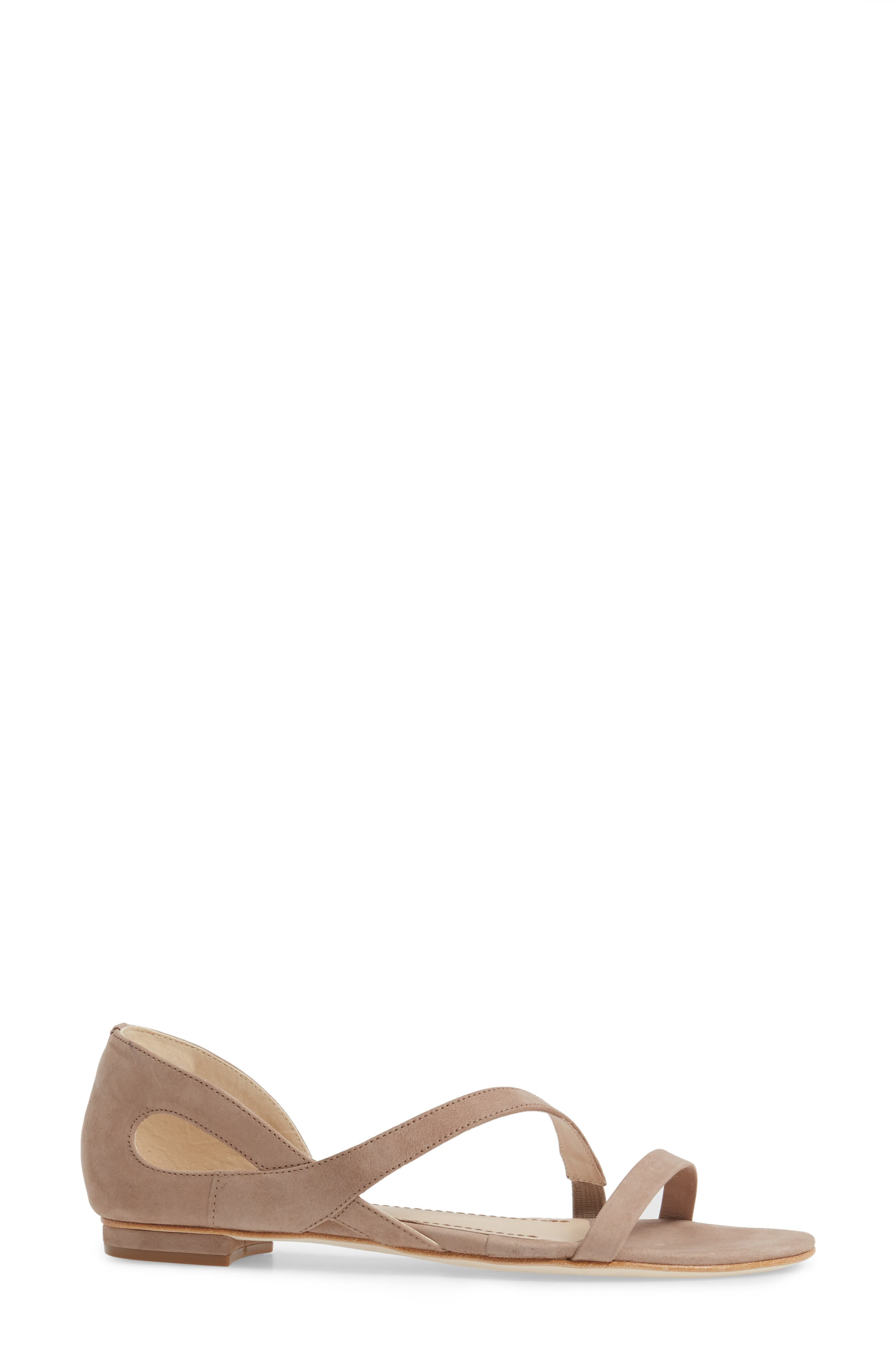 Jeanne Sandal,                             Alternate thumbnail 3, color,                             Taupe Leather