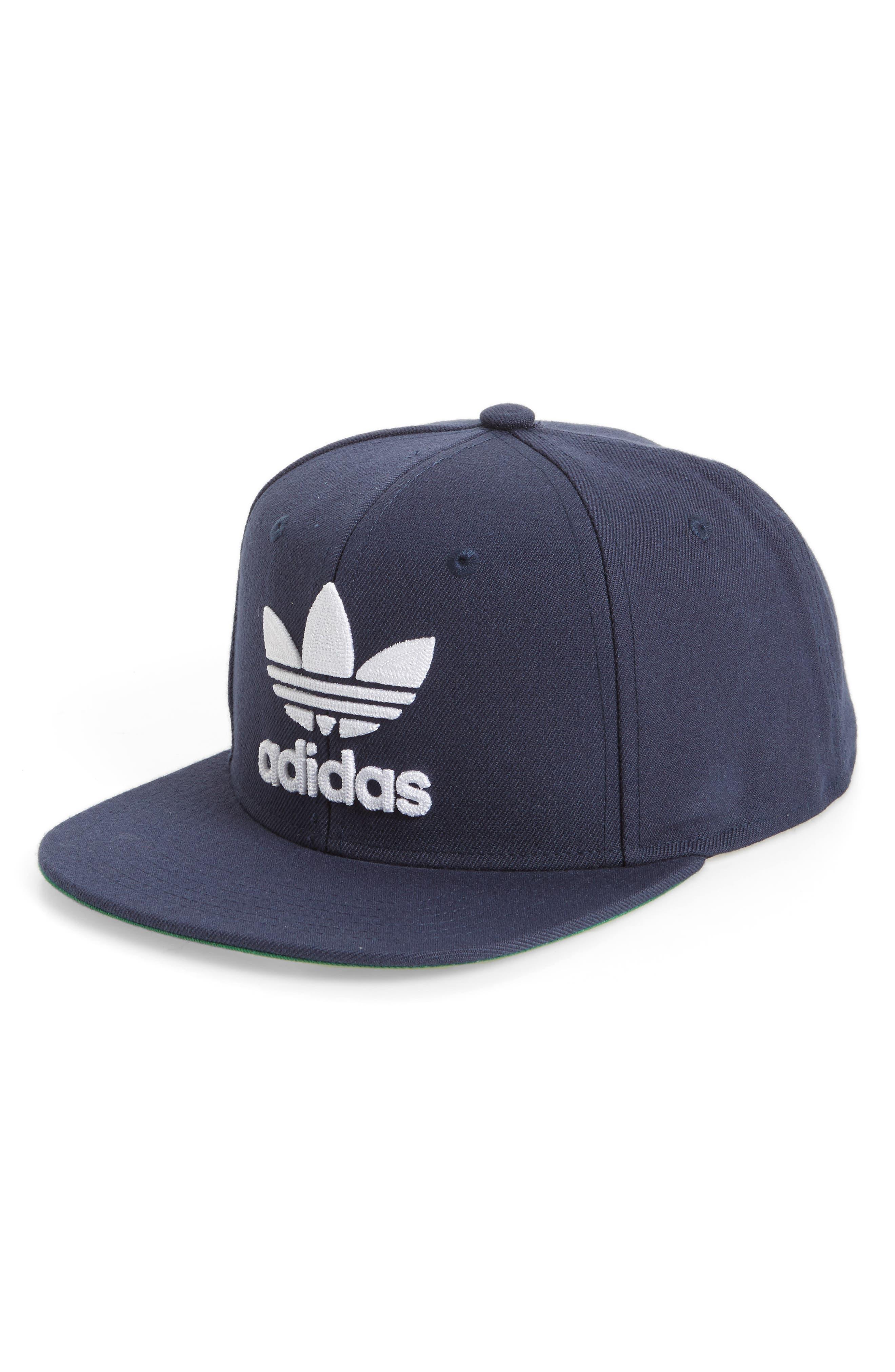 adidas Trefoil Chain Snapback Baseball Cap,                         Main,                         color, Dark Blue