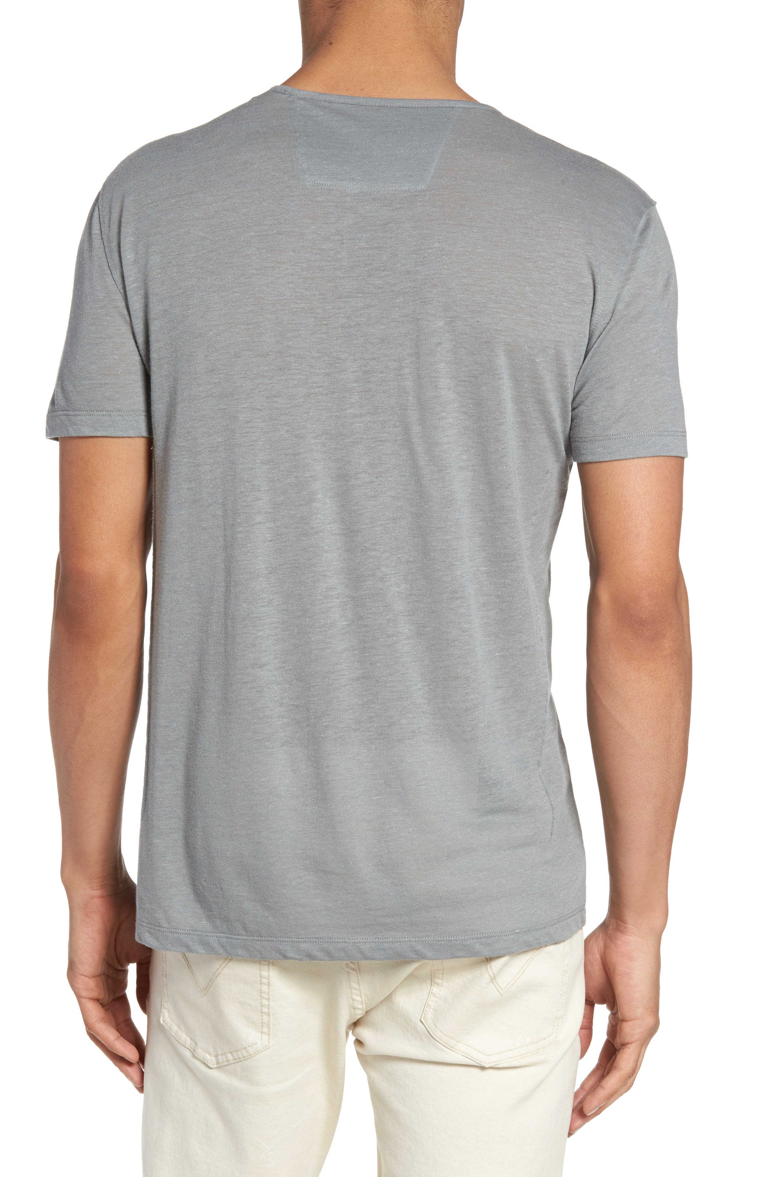V-Neck T-Shirt,                             Alternate thumbnail 2, color,                             Elephant Grey