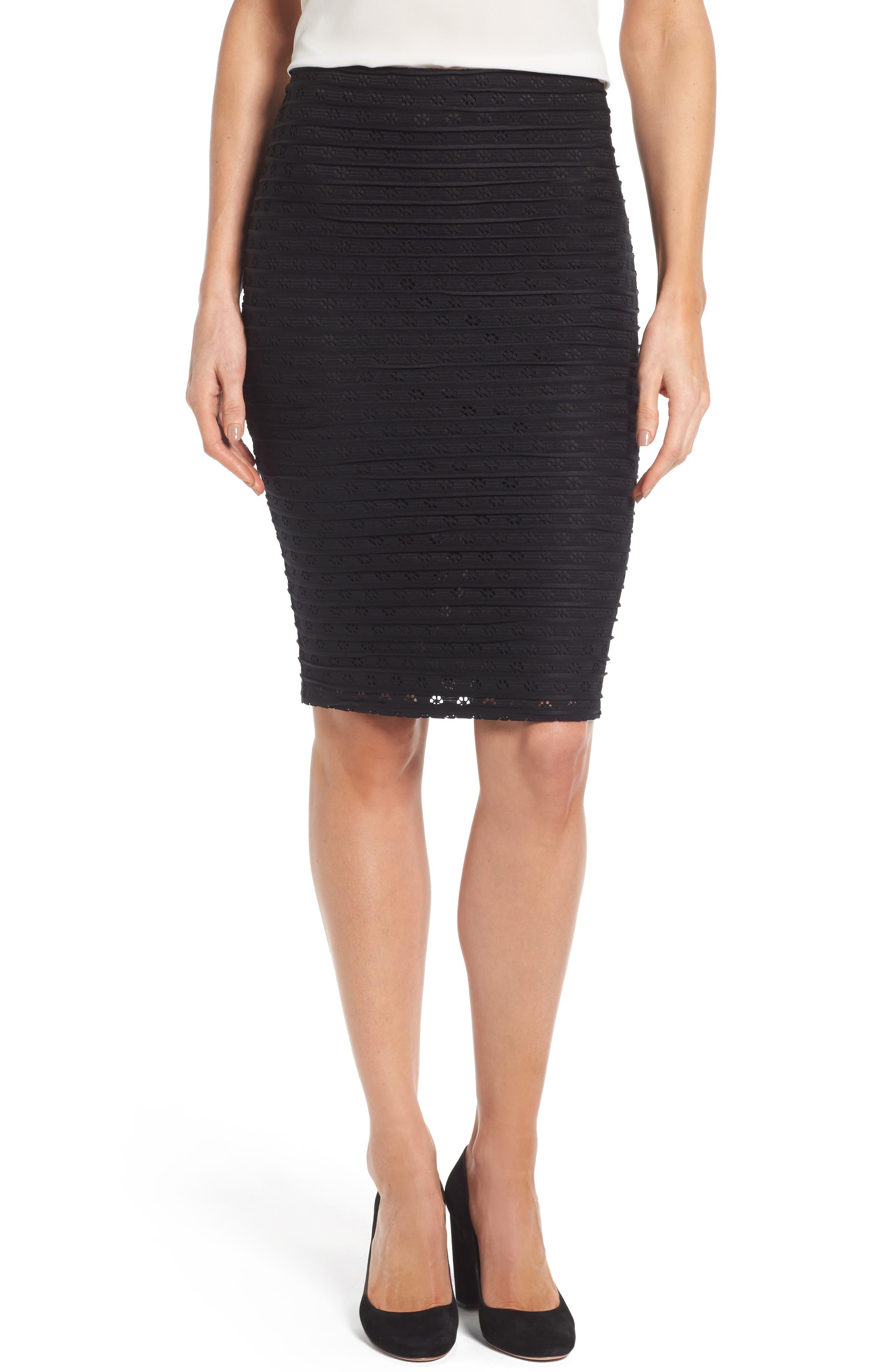 CeCe Jacquard Knit Pencil Skirt