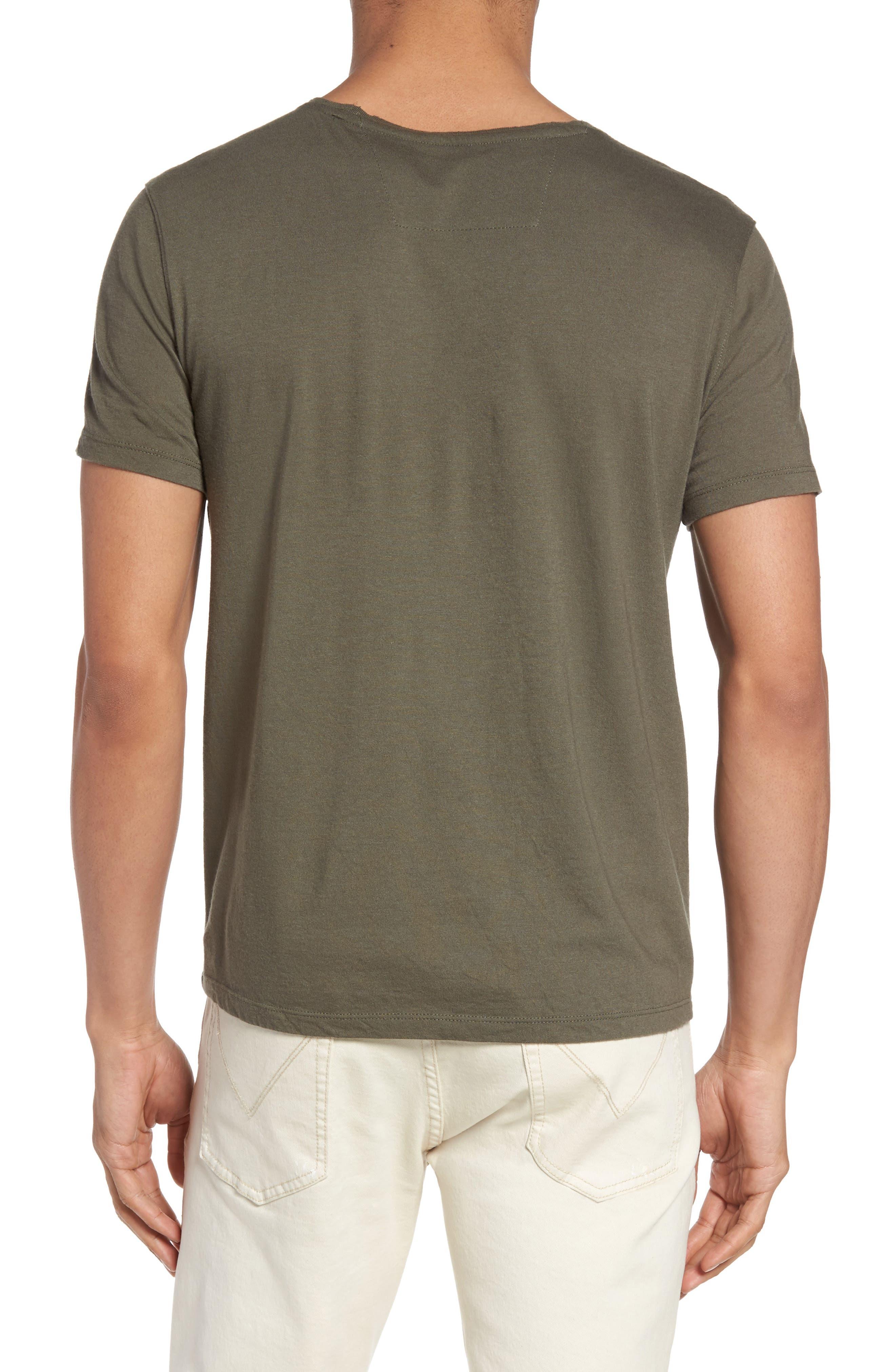 Fleur De Lis Graphic T-Shirt,                             Alternate thumbnail 2, color,                             Tent Green