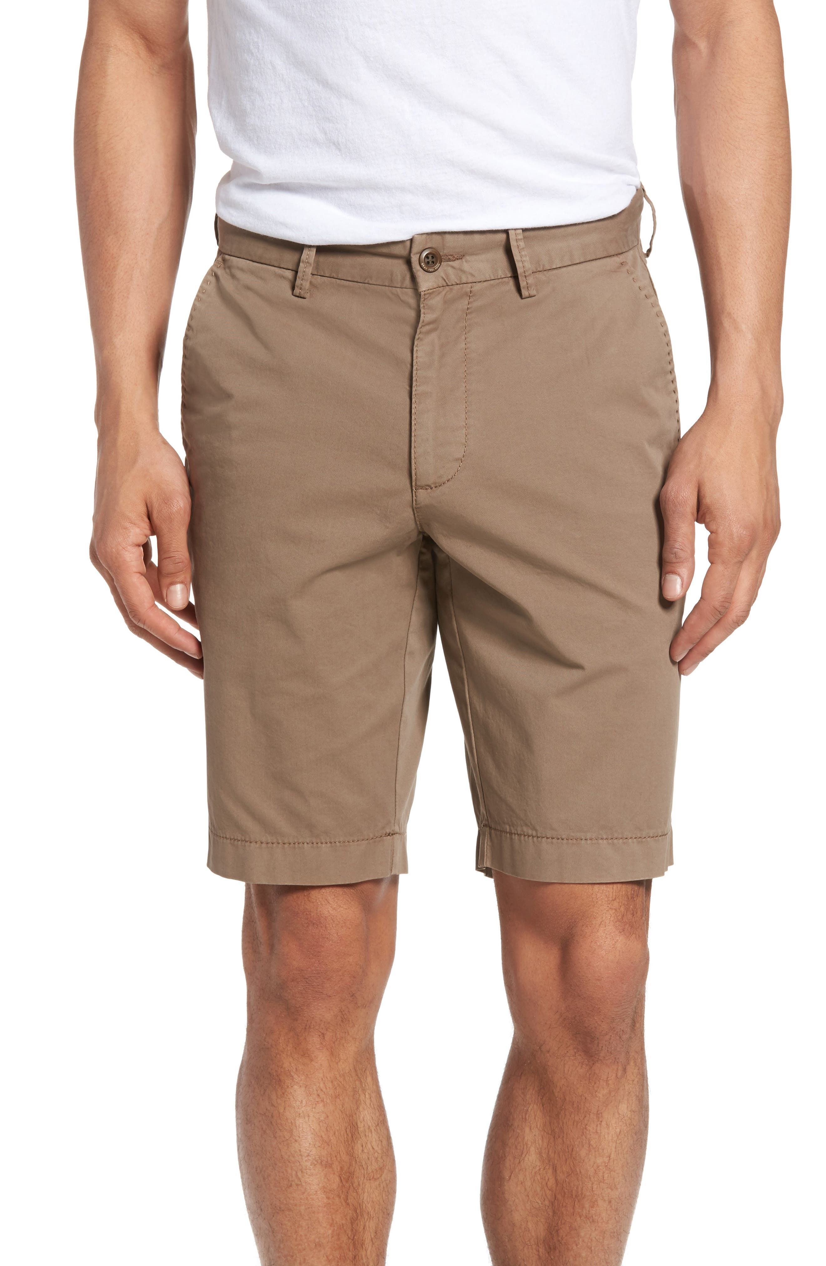 Brax Flat Front Stretch Cotton Shorts