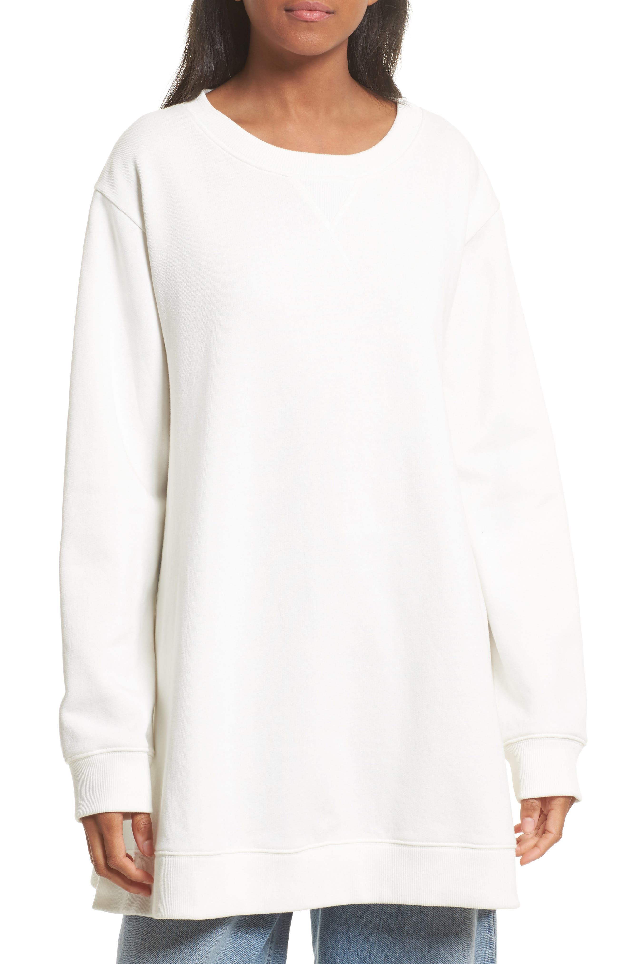 Oversize Sweatshirt,                         Main,                         color, Off White