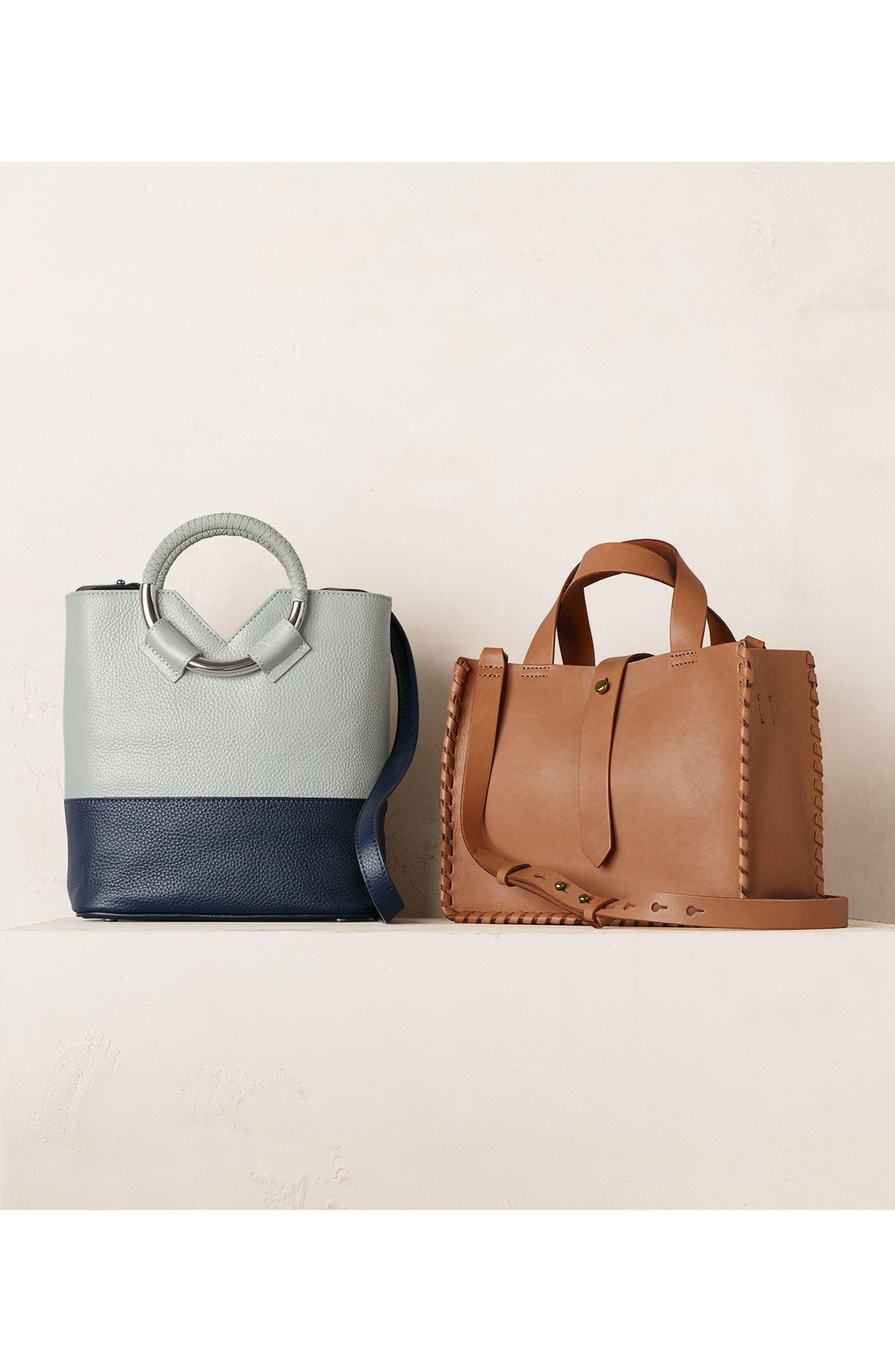 Small Elina Leather Crossbody Bag,                             Alternate thumbnail 7, color,