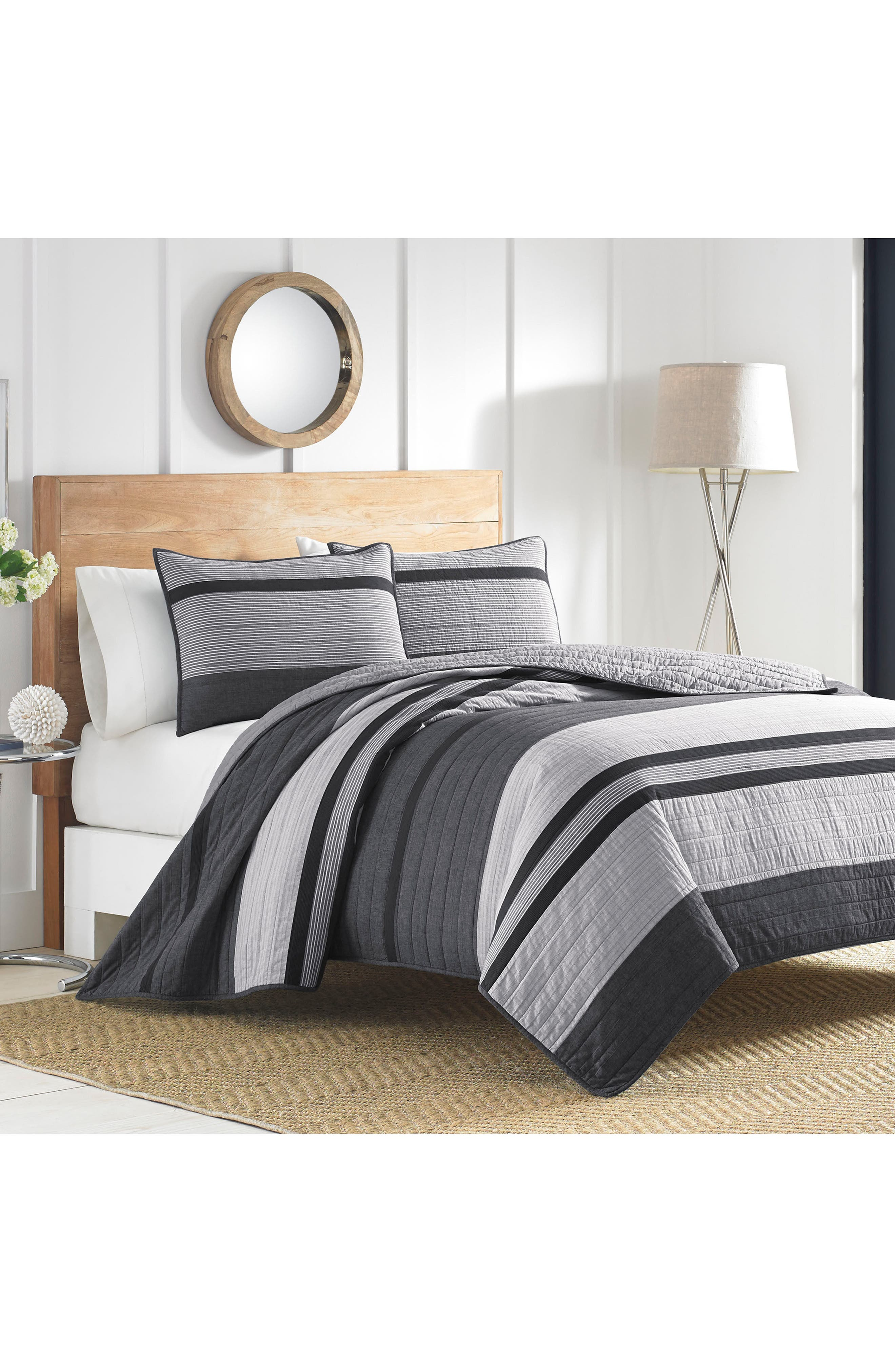 Vessey Quilted Sham,                             Alternate thumbnail 3, color,                             Grey