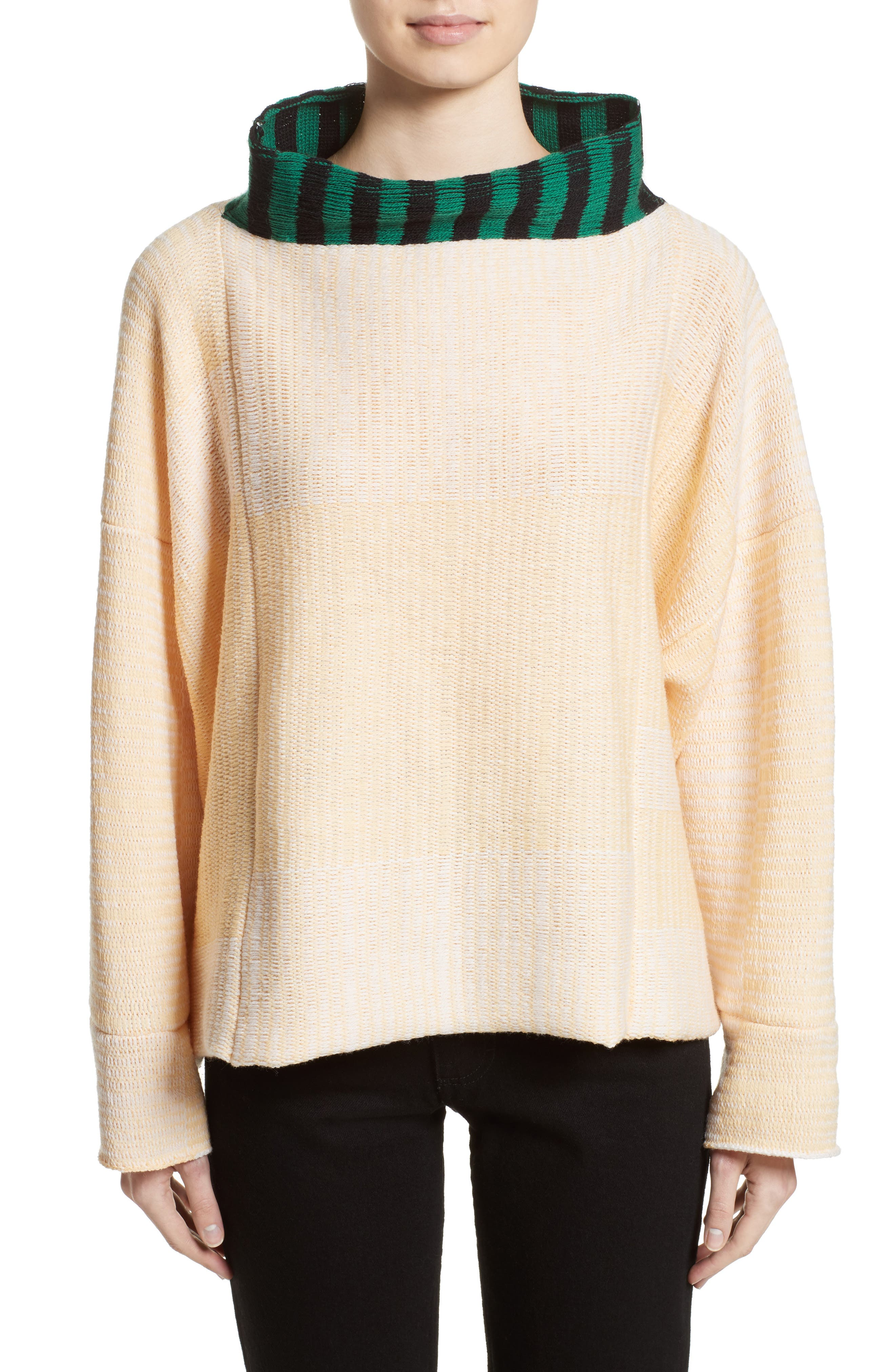 Vented Dolman Sweater,                         Main,                         color, Chamois